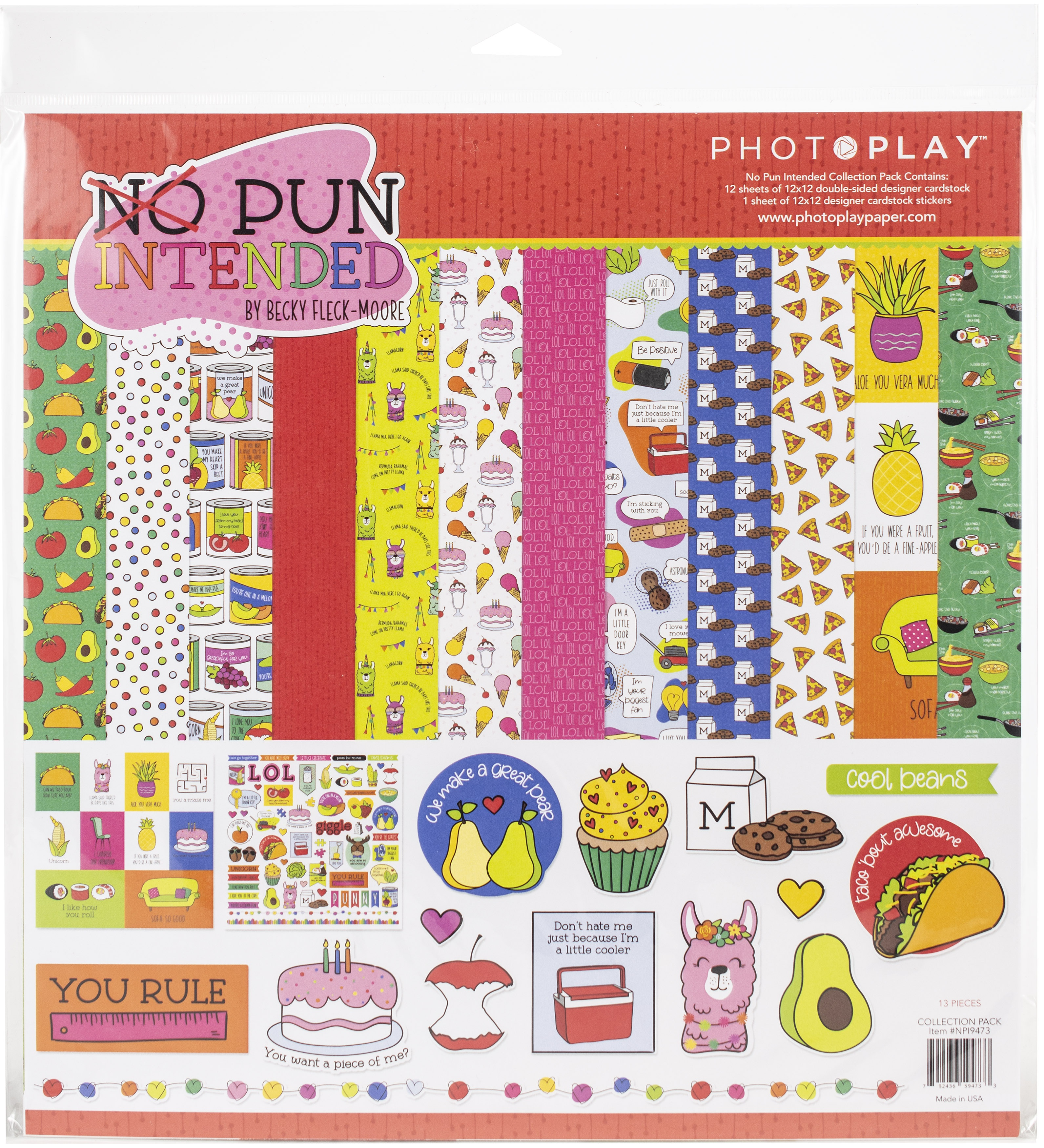 ^PhotoPlay No Pun Intended - 12x12 Collection Pack