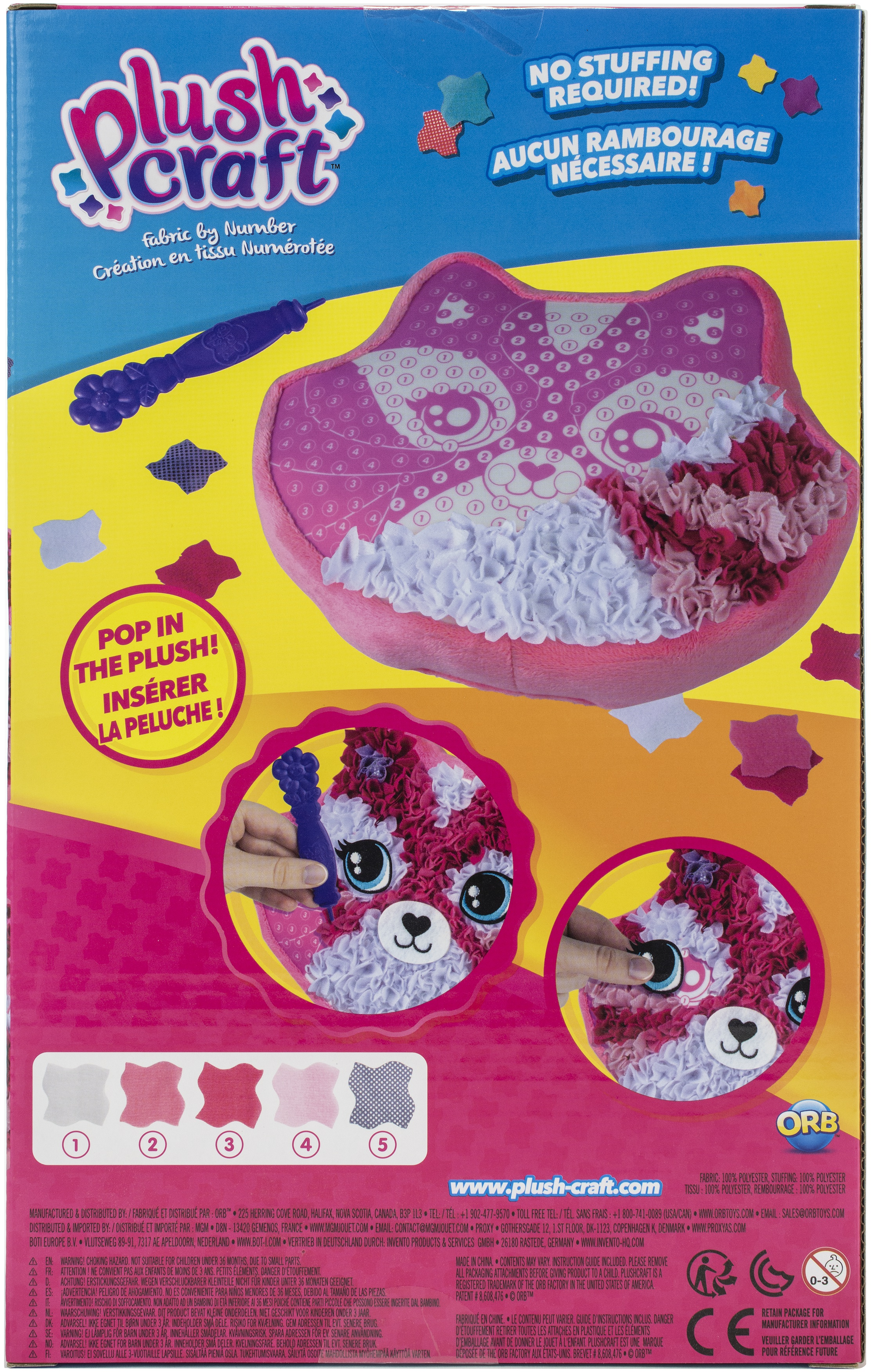Plushcraft Fabric By Number Kit-