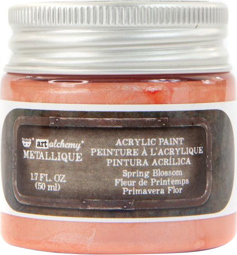 Finnabair Art Alchemy Metallique Acrylic Paint 1.7oz-Spring Blossom