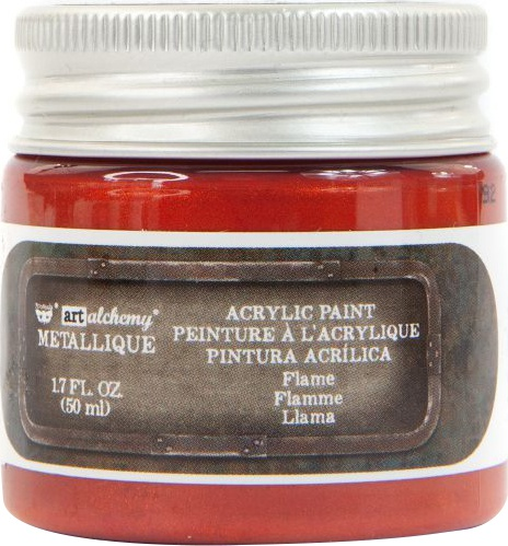 Finnabair Art Alchemy Metallique Acrylic Paint 1.7oz-Flame