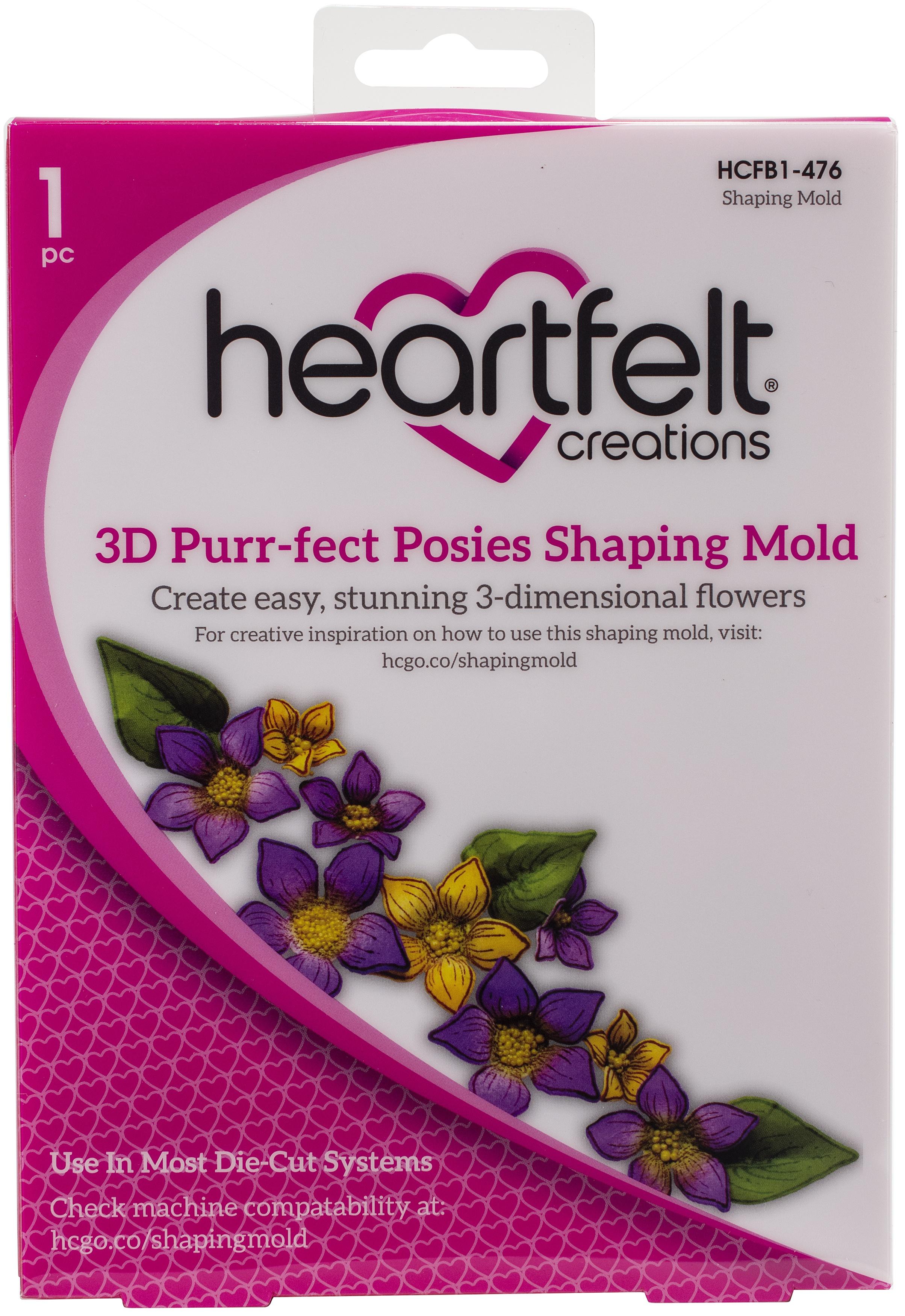 Heartfelt Creations 3D Purr-fect Posies Shaping Mold