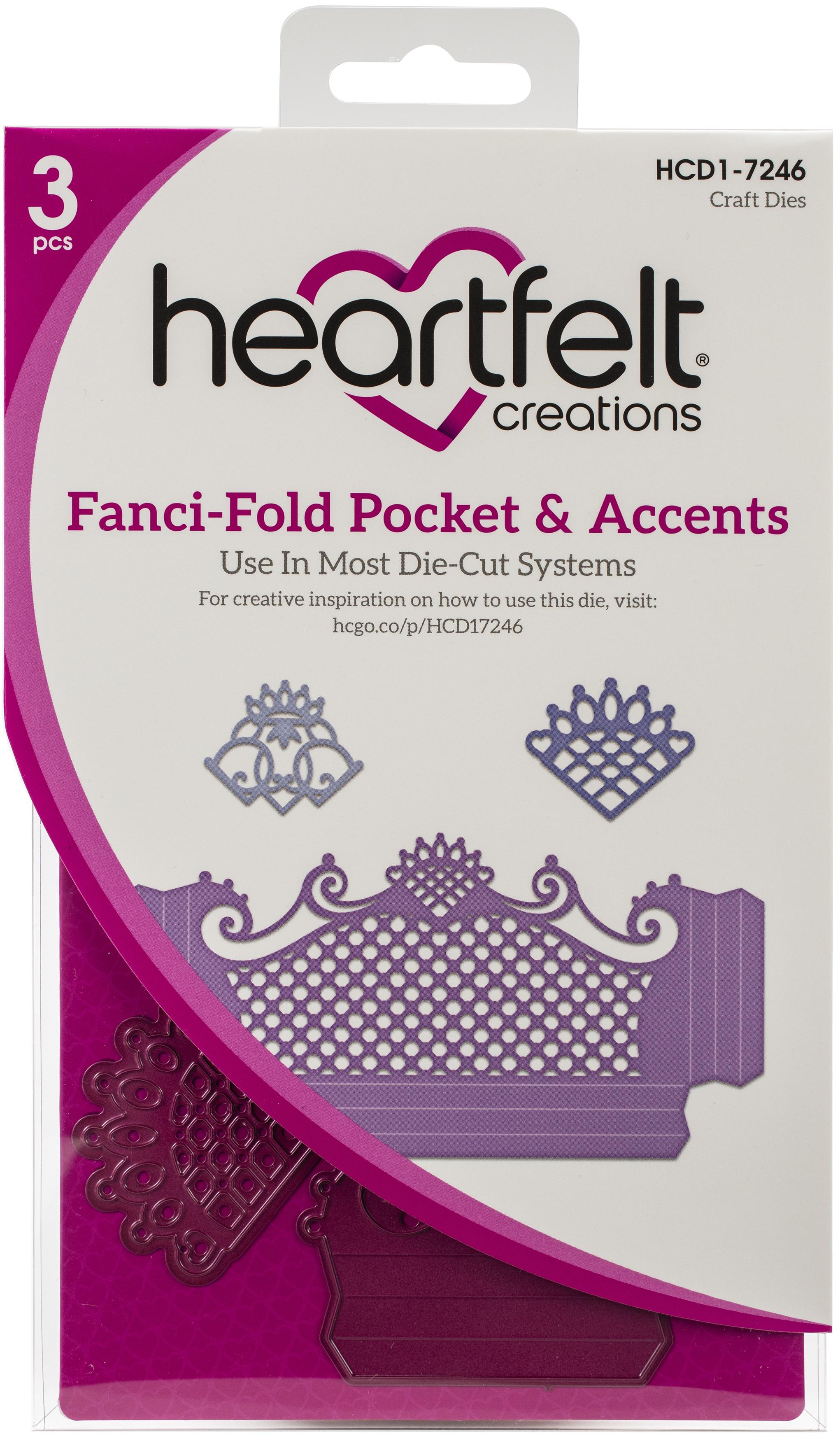Heartfelt Creations Fanci-Fold Pocket & Accents Die