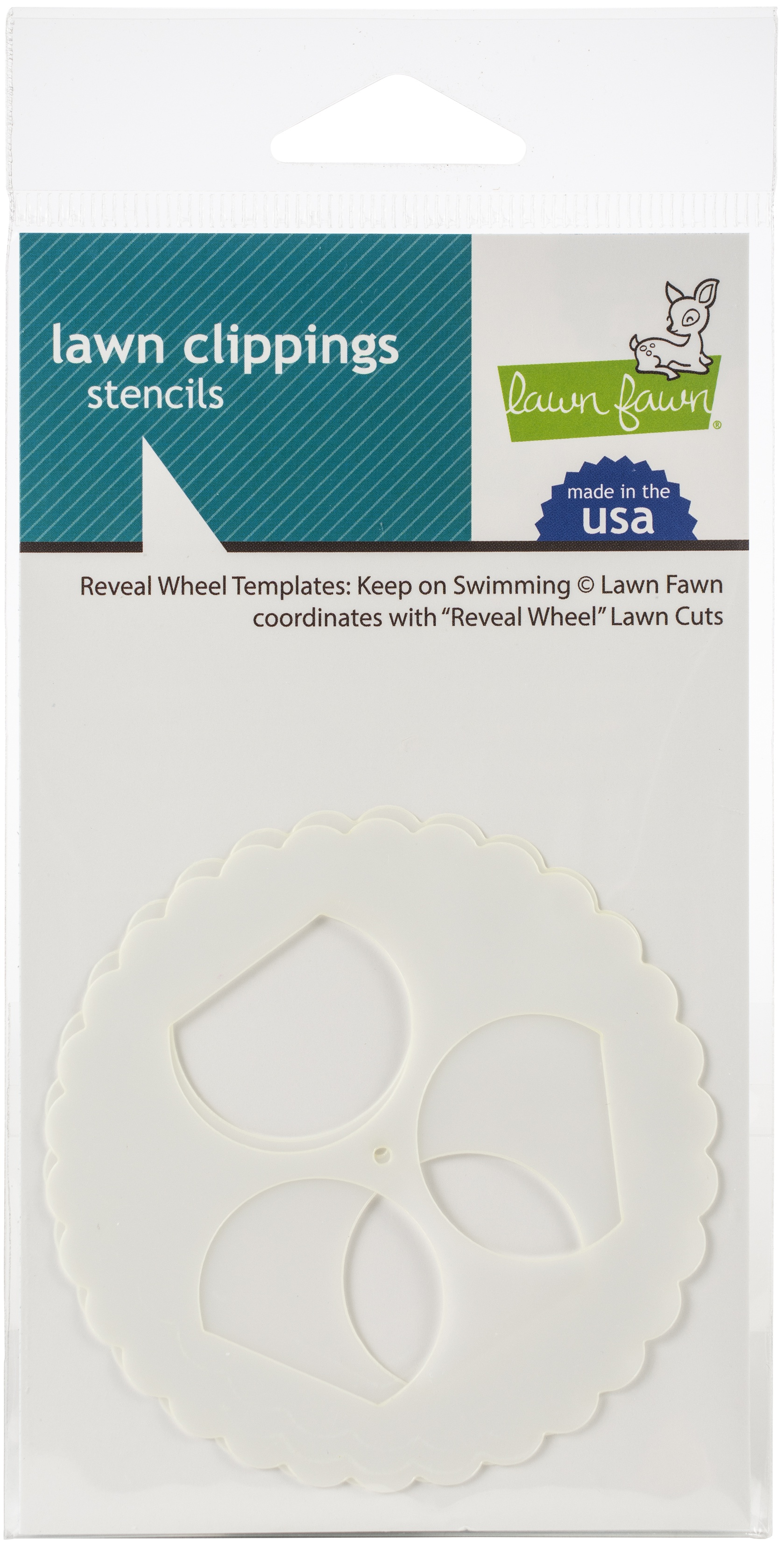 Lawn Clippings Stencils-Reveal Wheel: Keep On Swimming
