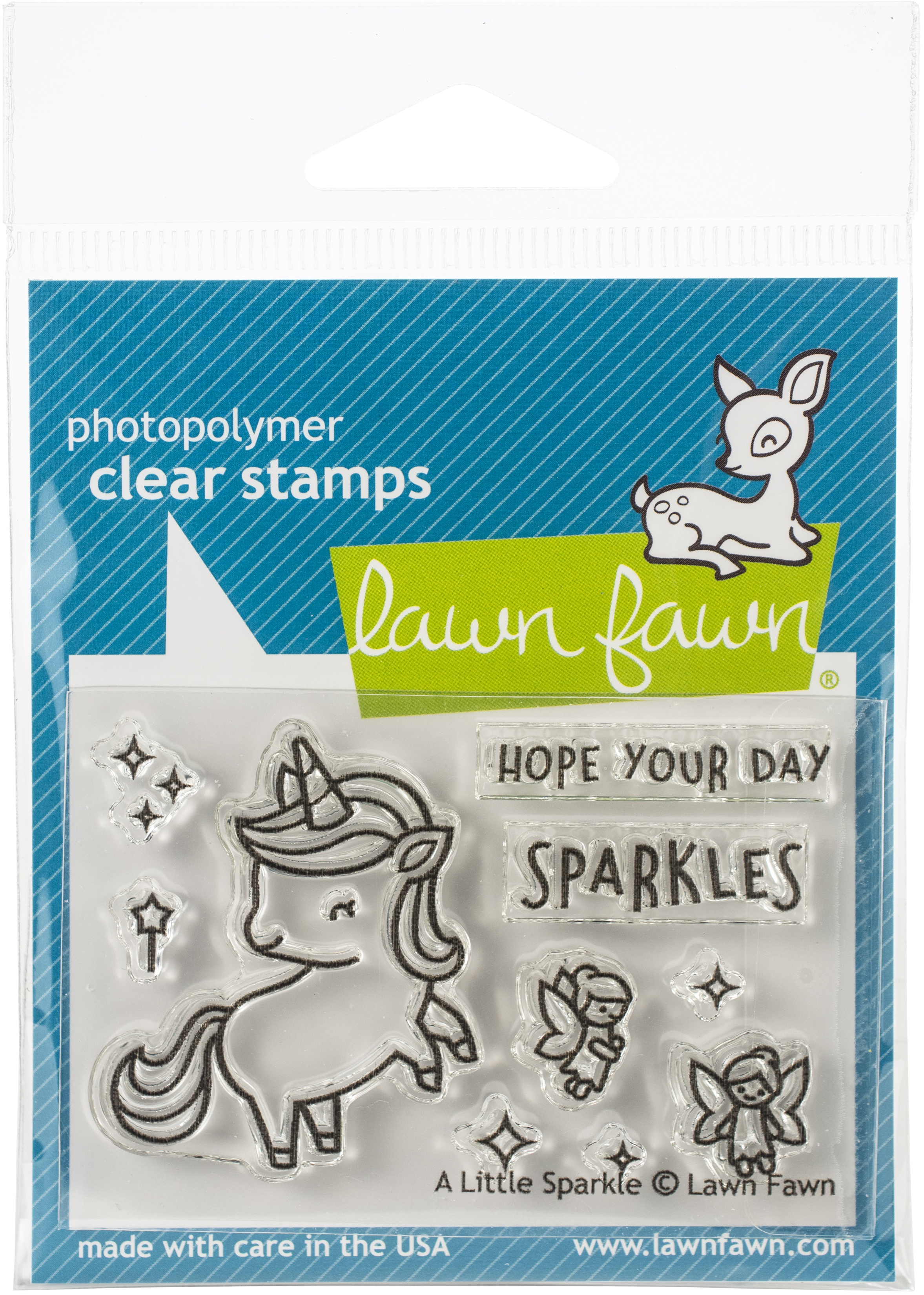 Lawn Fawn Clear Stamps 3X2-A Little Sparkle