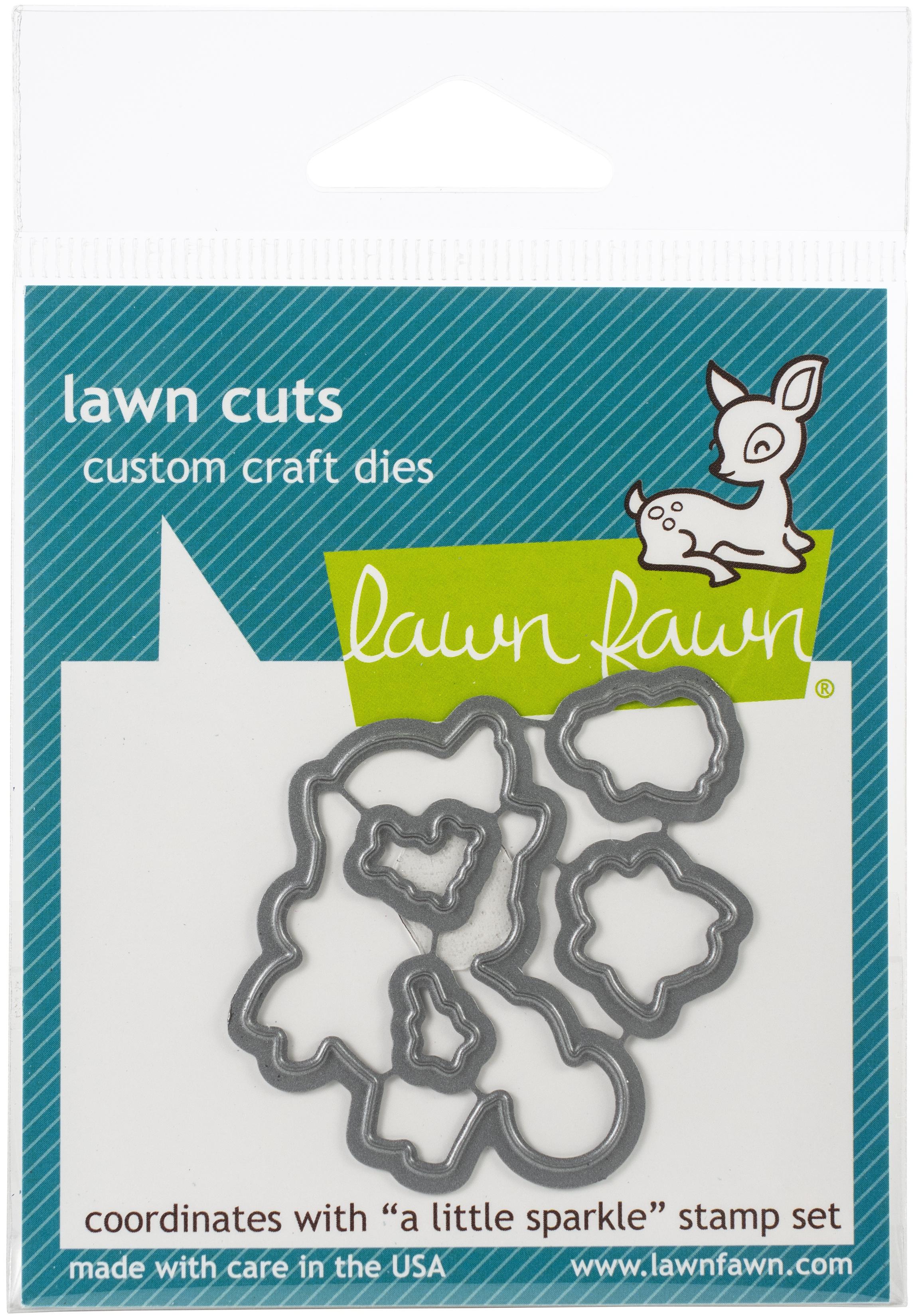 Lawn Cuts Custom Craft Die-A Little Sparkle