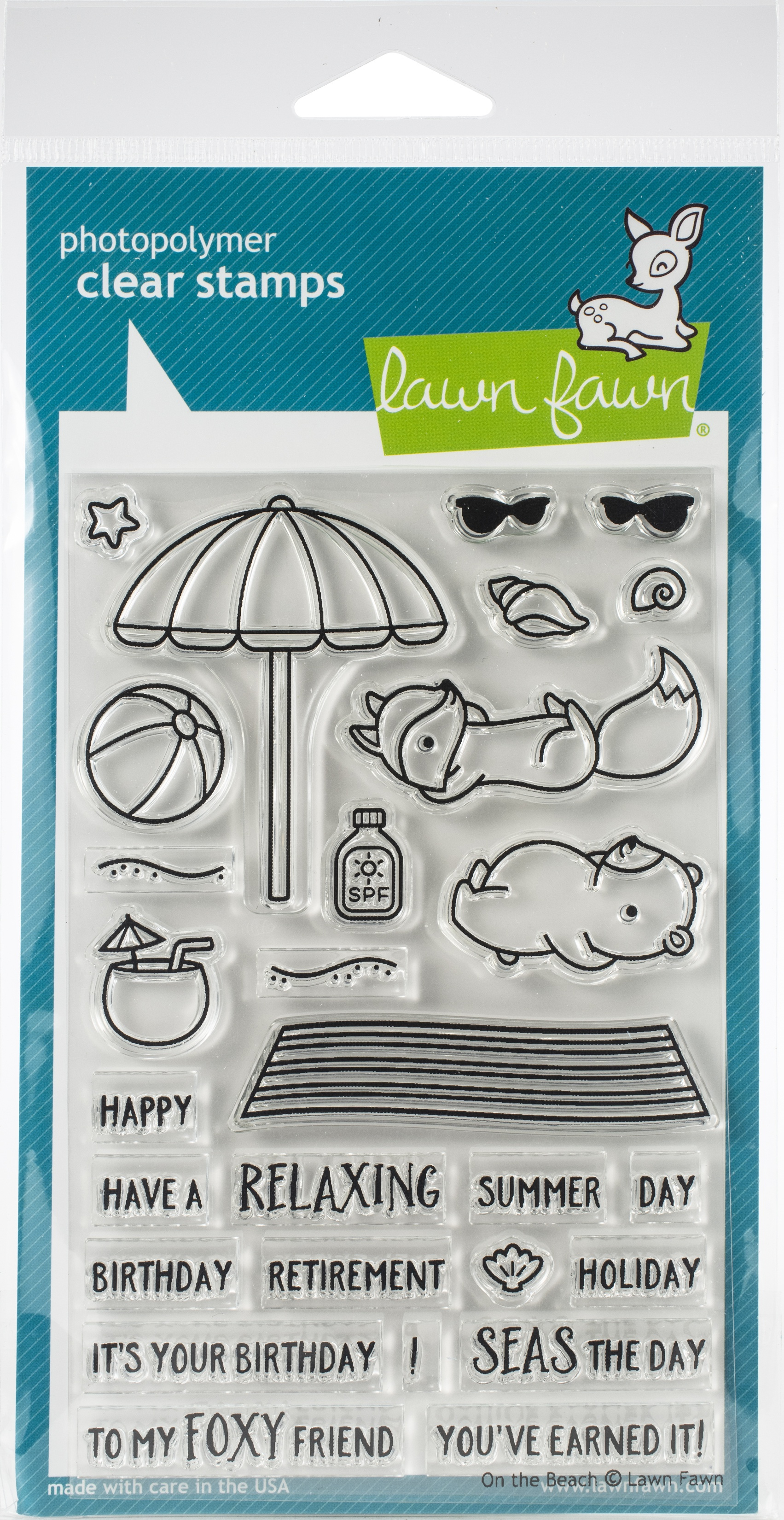 Lawn Fawn On the beach stamp