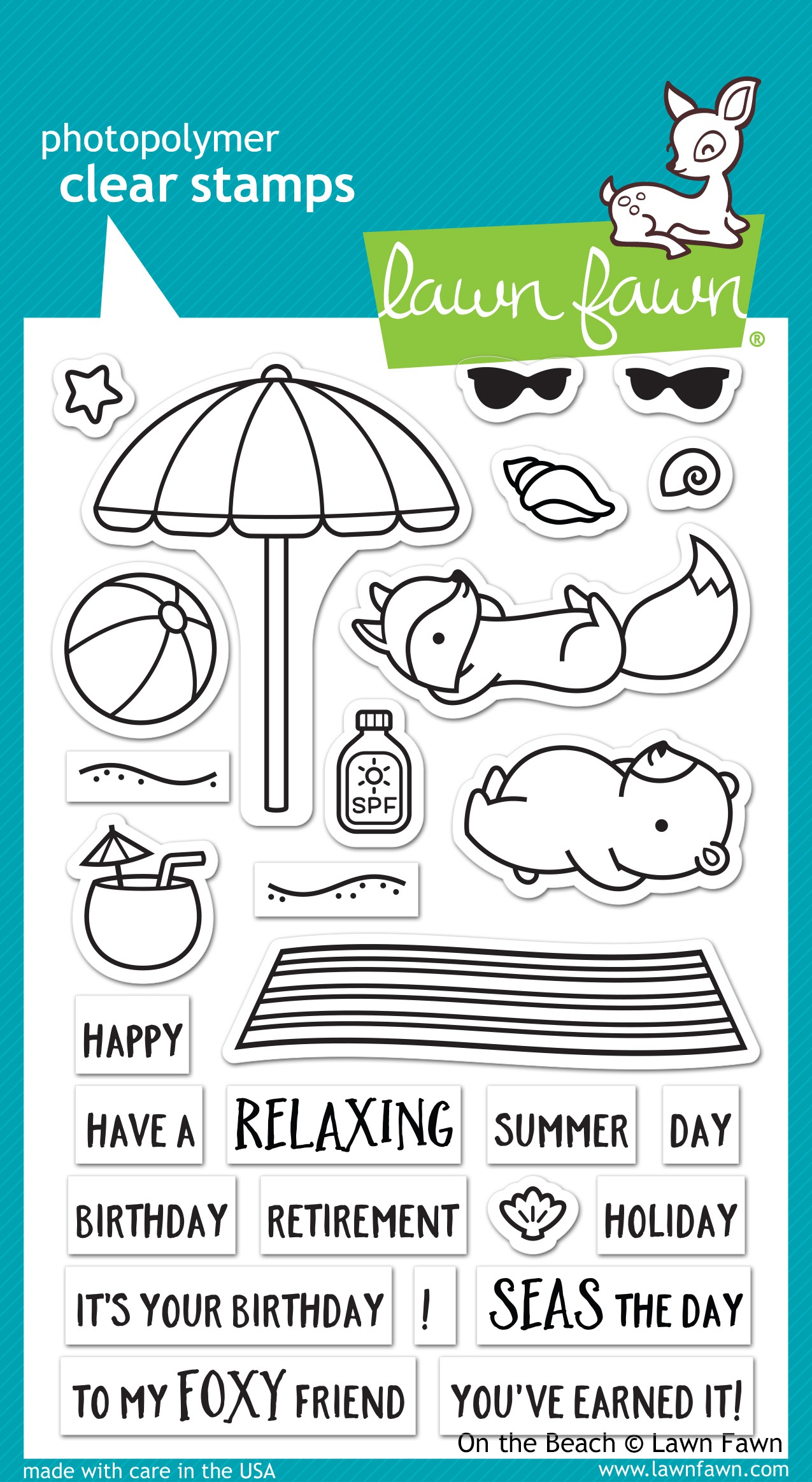 Lawn Fawn Clear Stamps 4X6-On The Beach