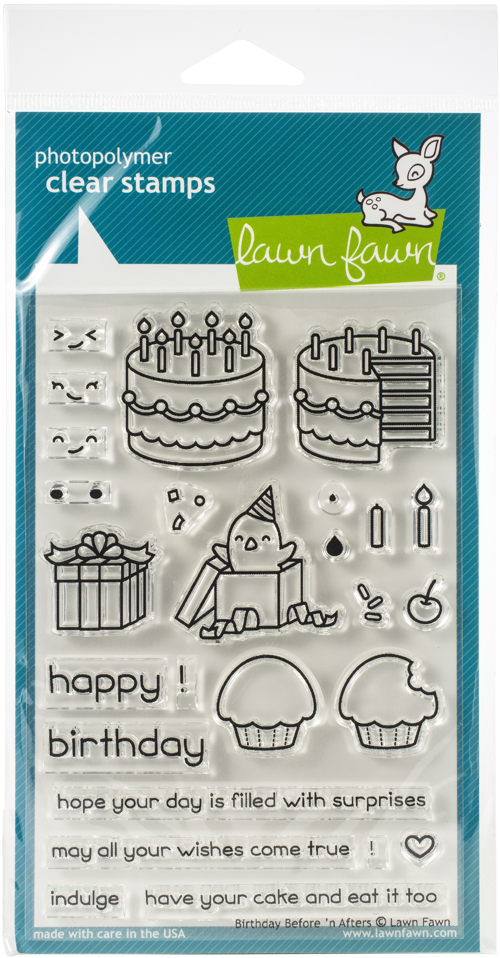 Lawn Fawn Clear Stamps 4X6-Birthday Before 'n Afters