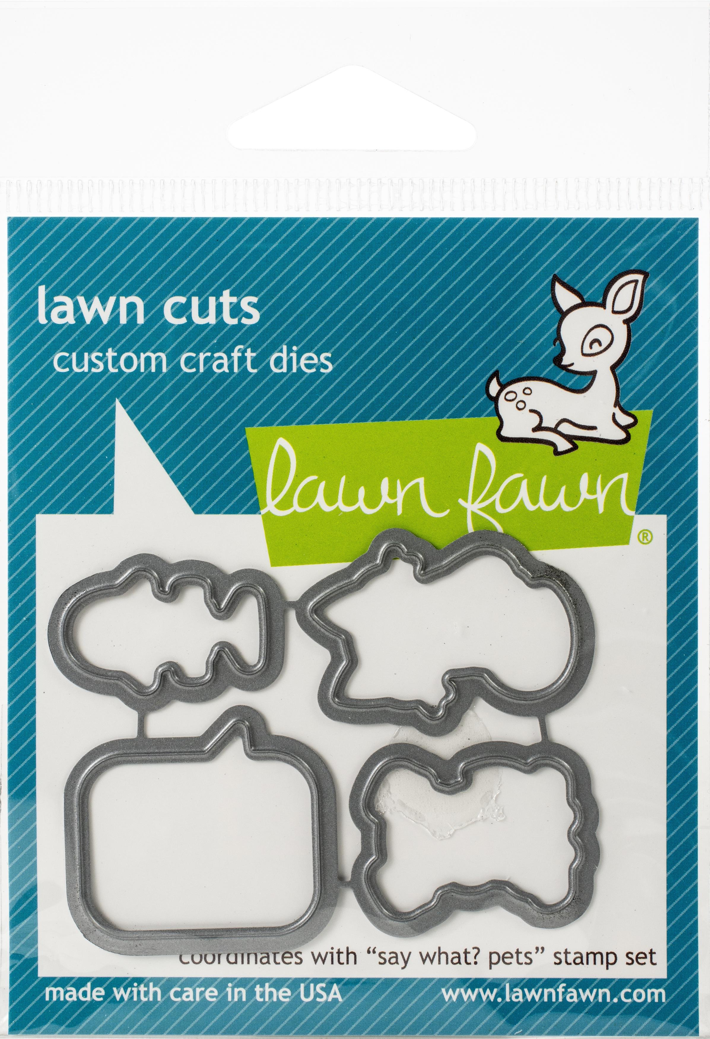 Lawn Cuts Custom Craft Die-Say What? Pets