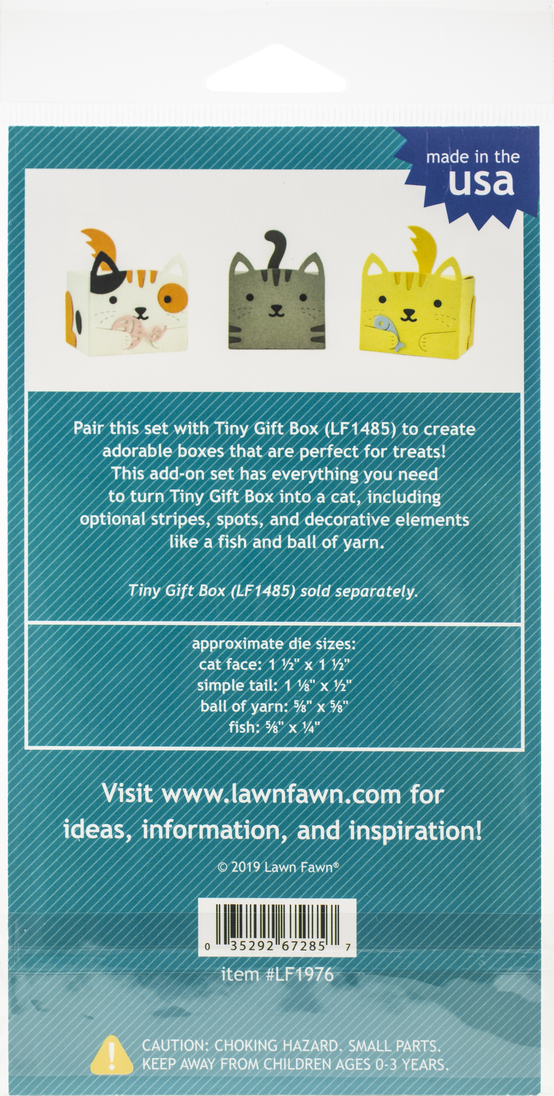 Lawn Cuts Custom Craft Die-Tiny Gift Box Cat Add-On