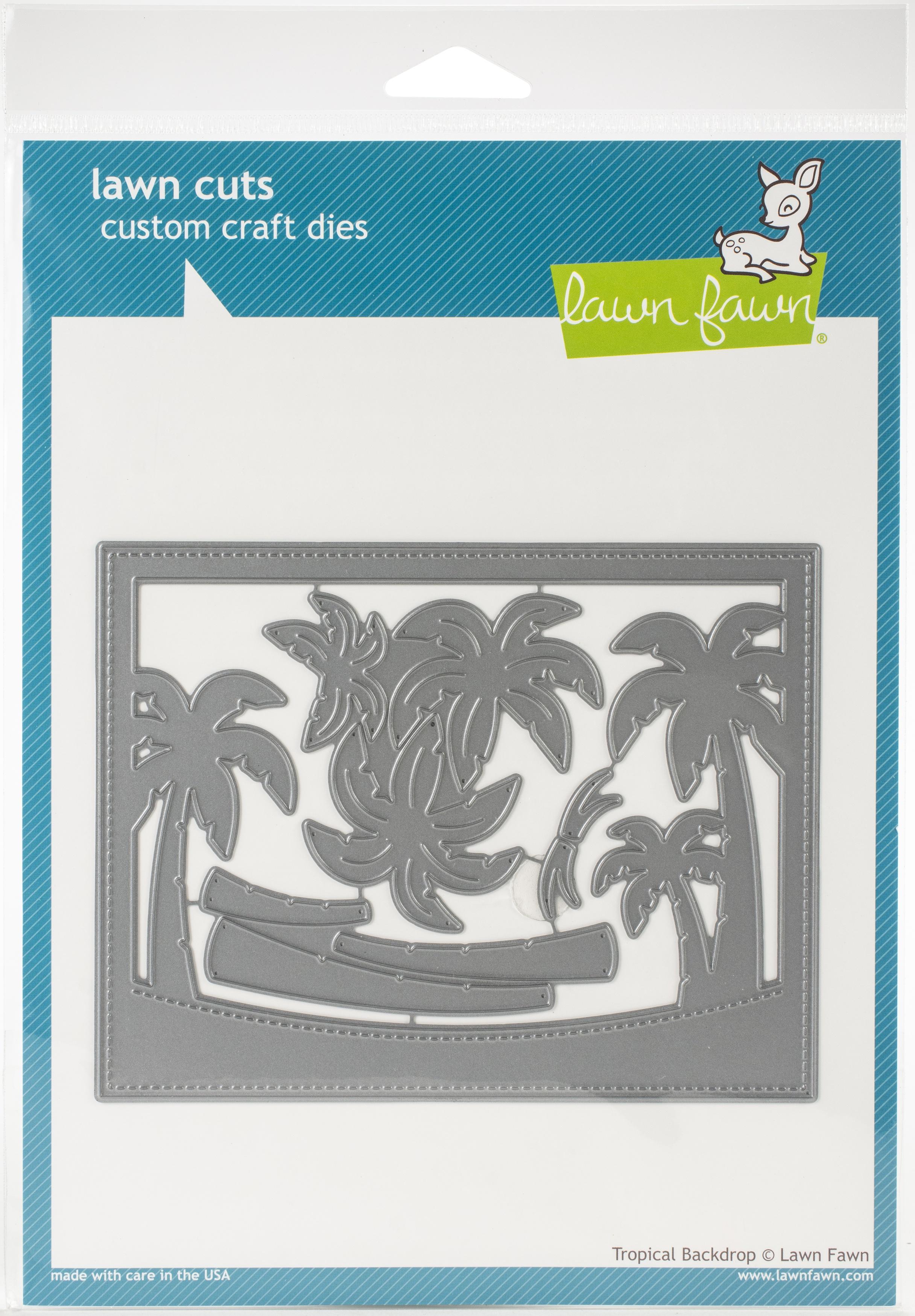 Lawn Cuts Custom Craft Die-Tropical Backdrop
