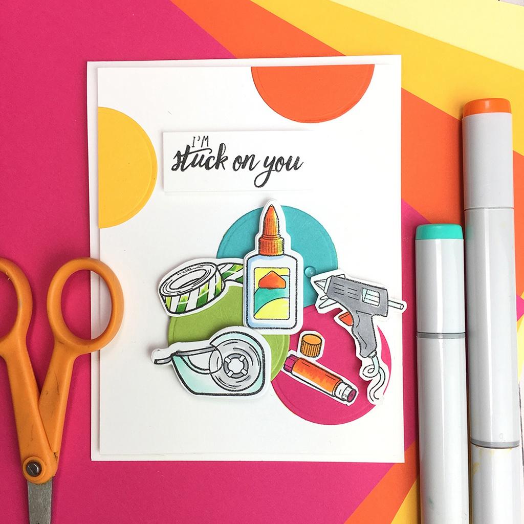 Hero Arts Stamp & Cut-Stick Together
