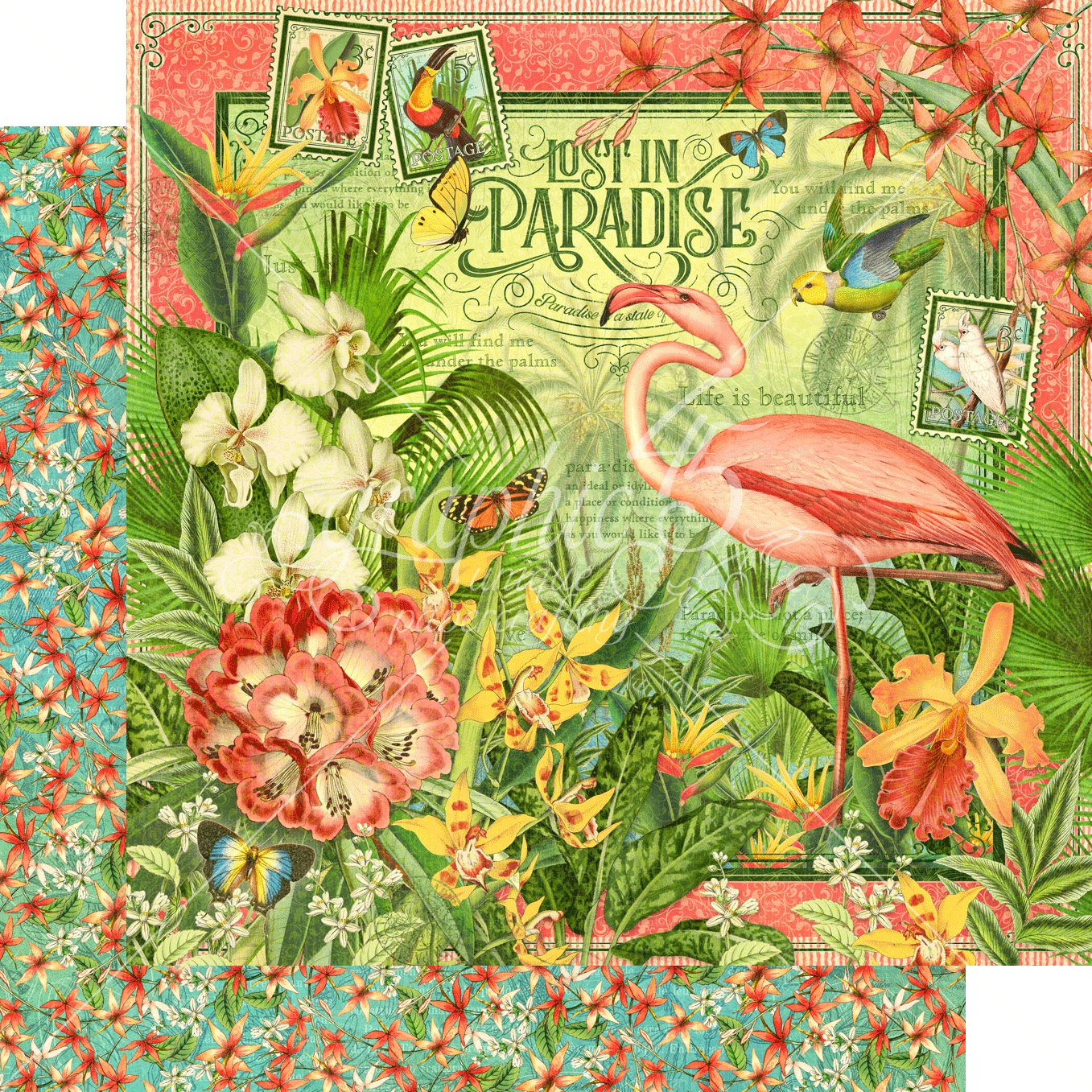 Lost In Paradise Double-Sided Cardstock 12X12-Lost In Paradise