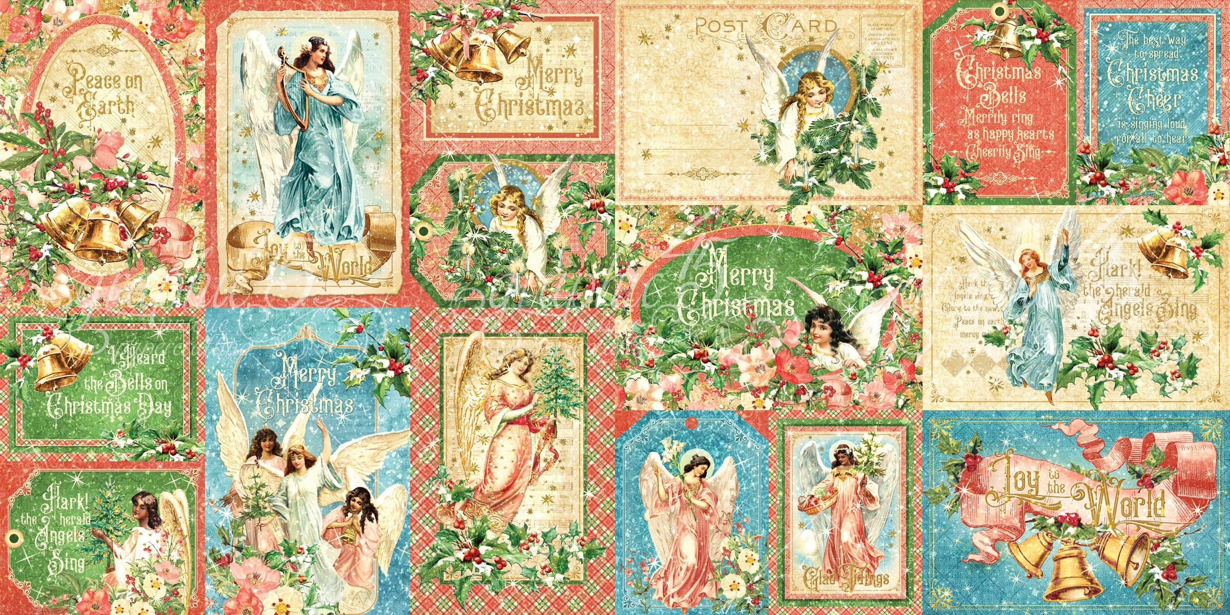 Graphic 45 - Joy to the World - Journalling & Ephemera Cards