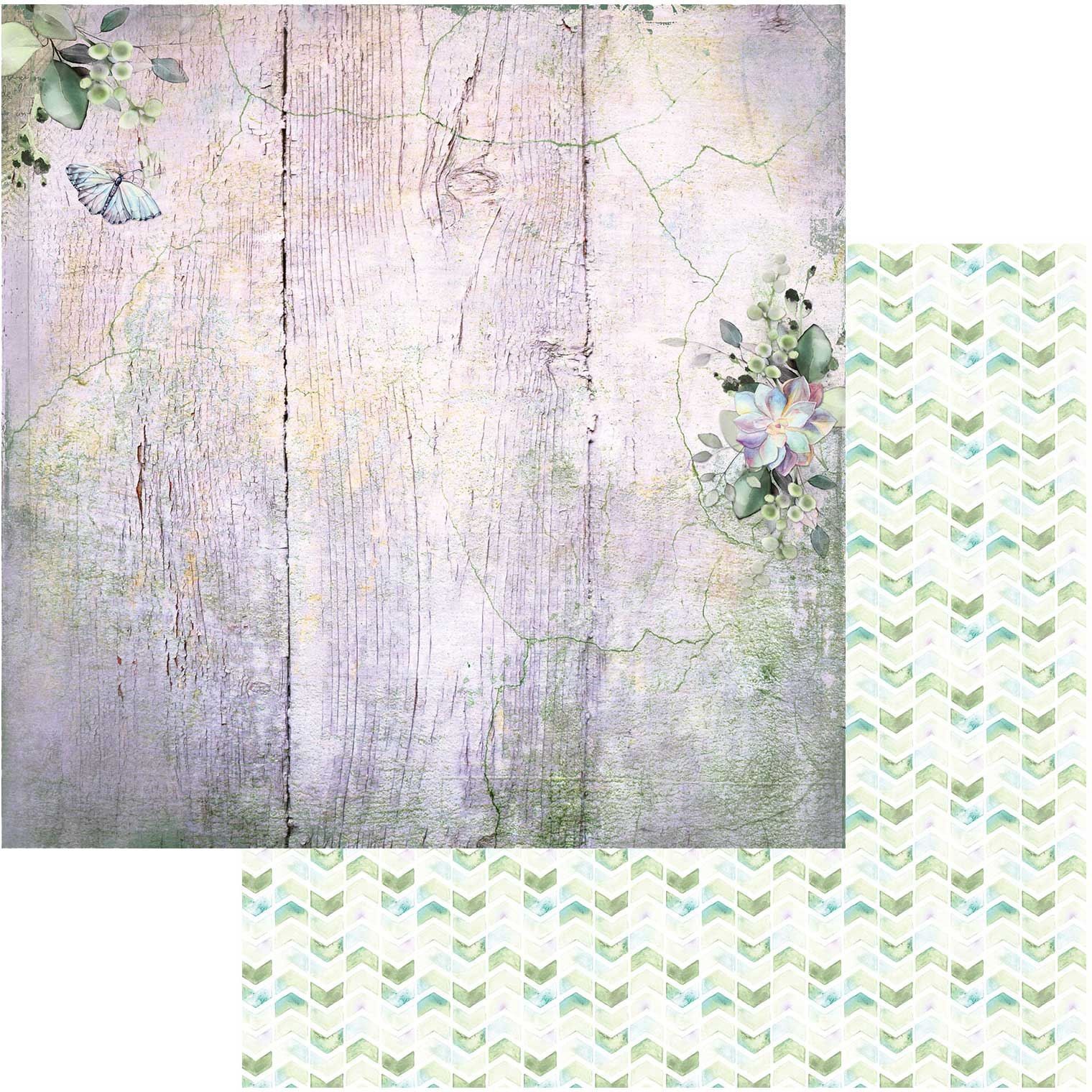 Serendipitous Double-Sided Cardstock 12X12-Misty Breeze