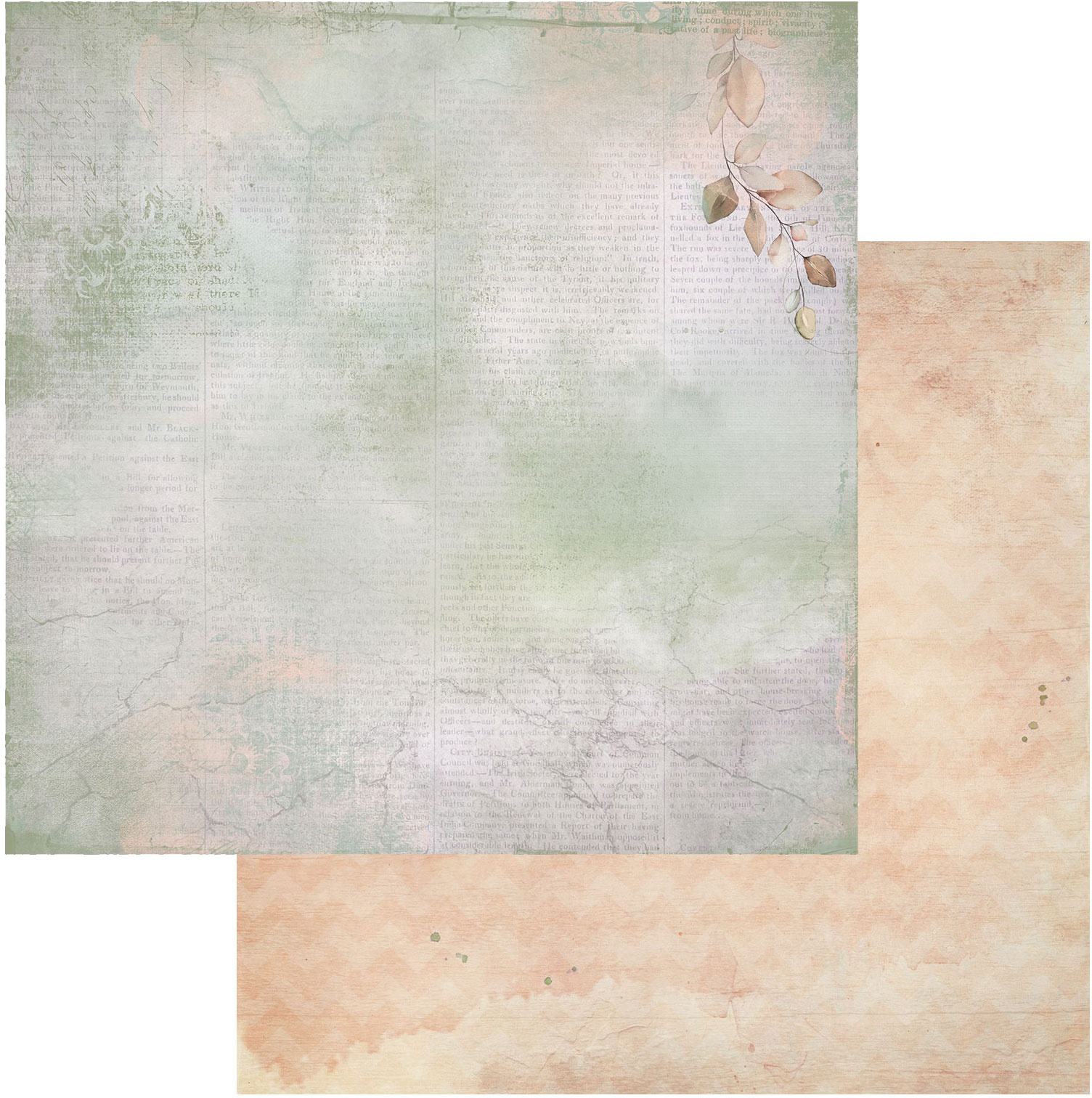 Ethereal Double-Sided Cardstock 12X12-Whisper