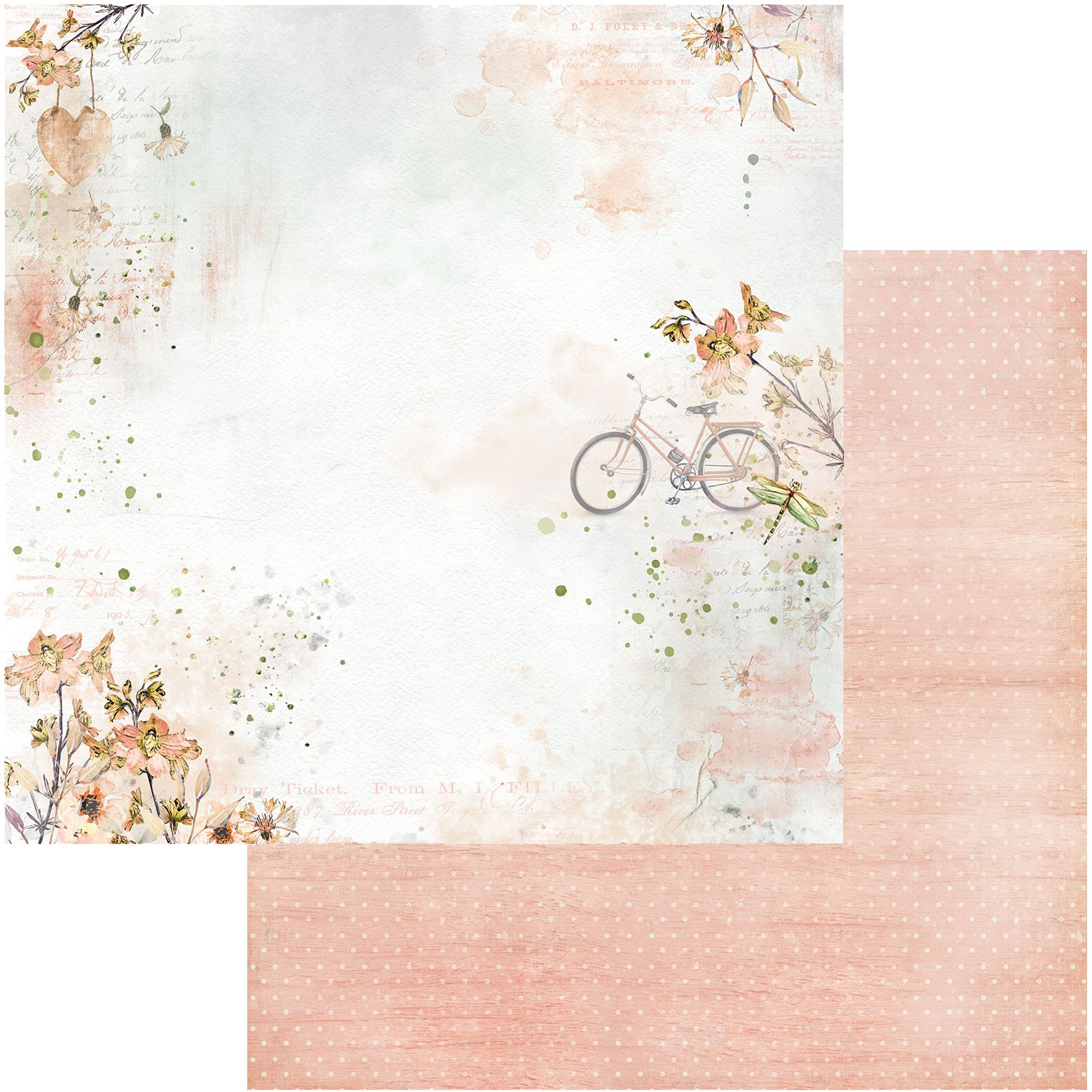 Ethereal Double-Sided Cardstock 12X12-Daydream
