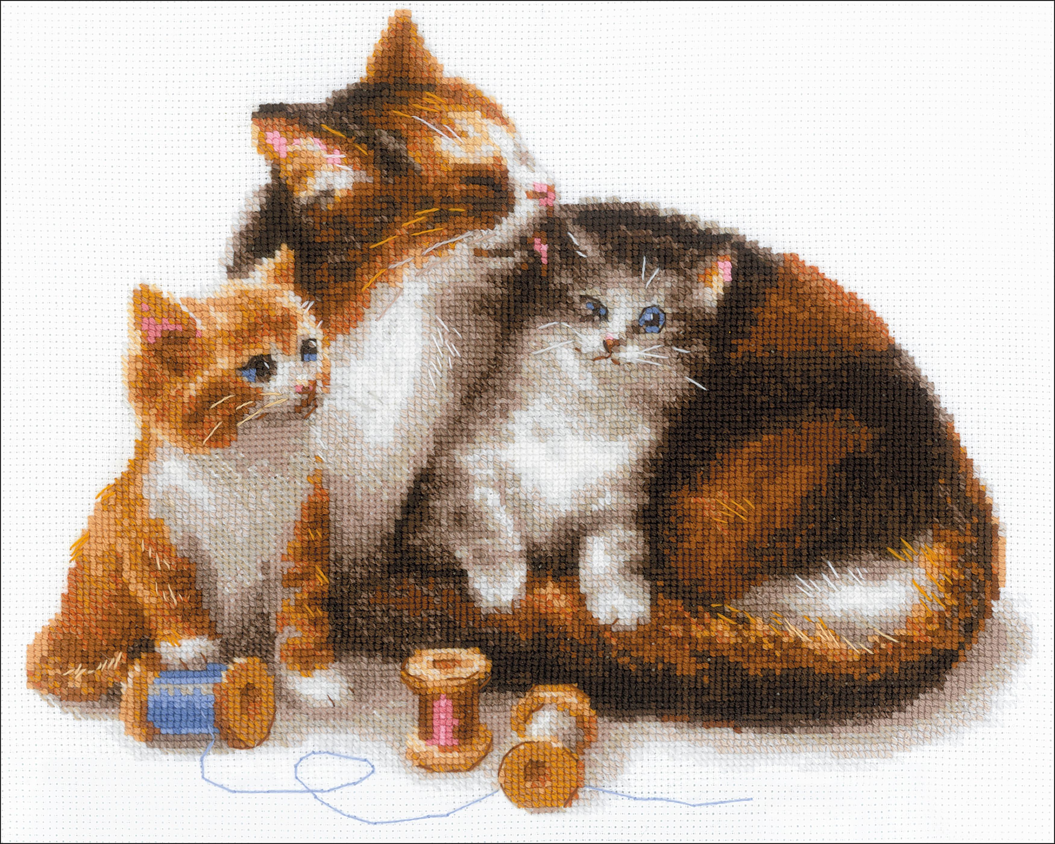 Cat w/Kittens CrossStitch
