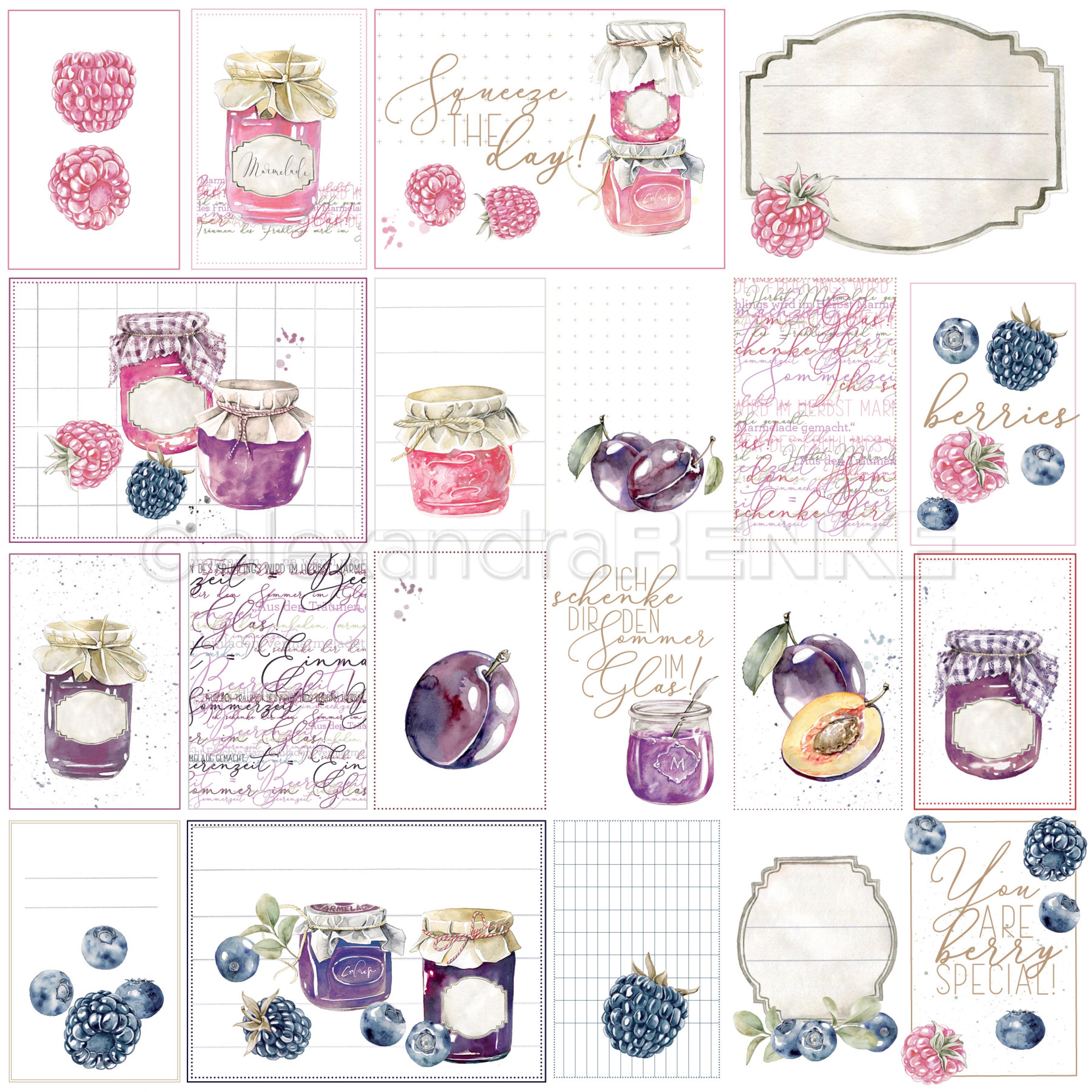 Alexandra Renke cooking cardstock 12X12 - Marmalade Card sheet