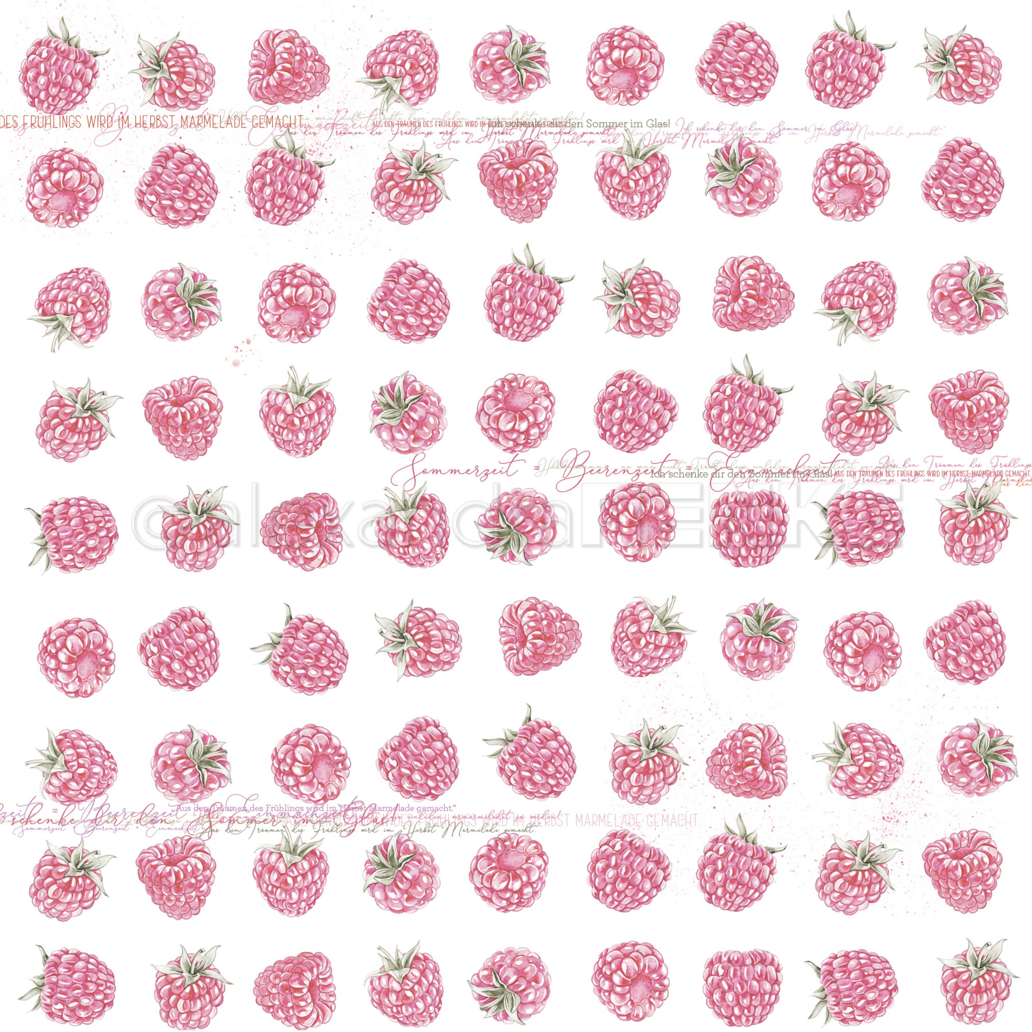 Alexandra Renke Marmalade Design Paper 12X12-Raspberries