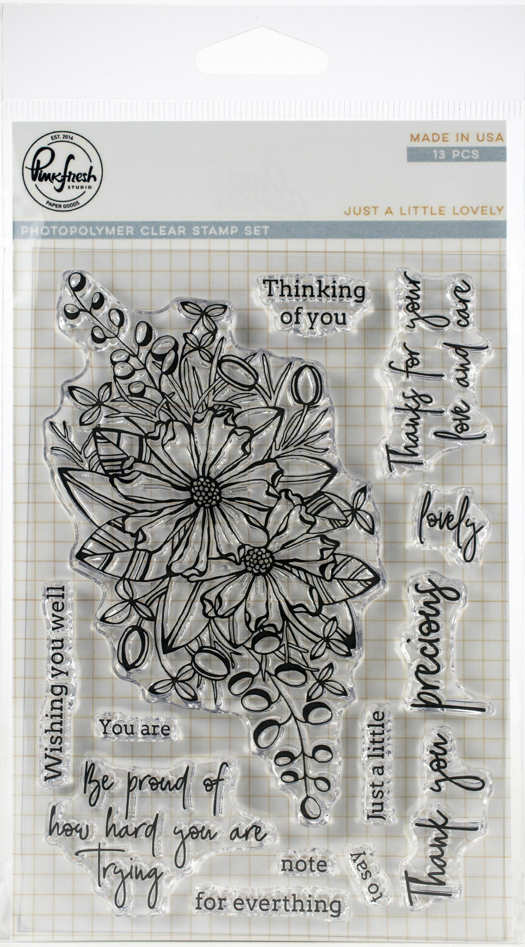 PinkFresh - Just A Little Lovely - 4x6 Stamp Set