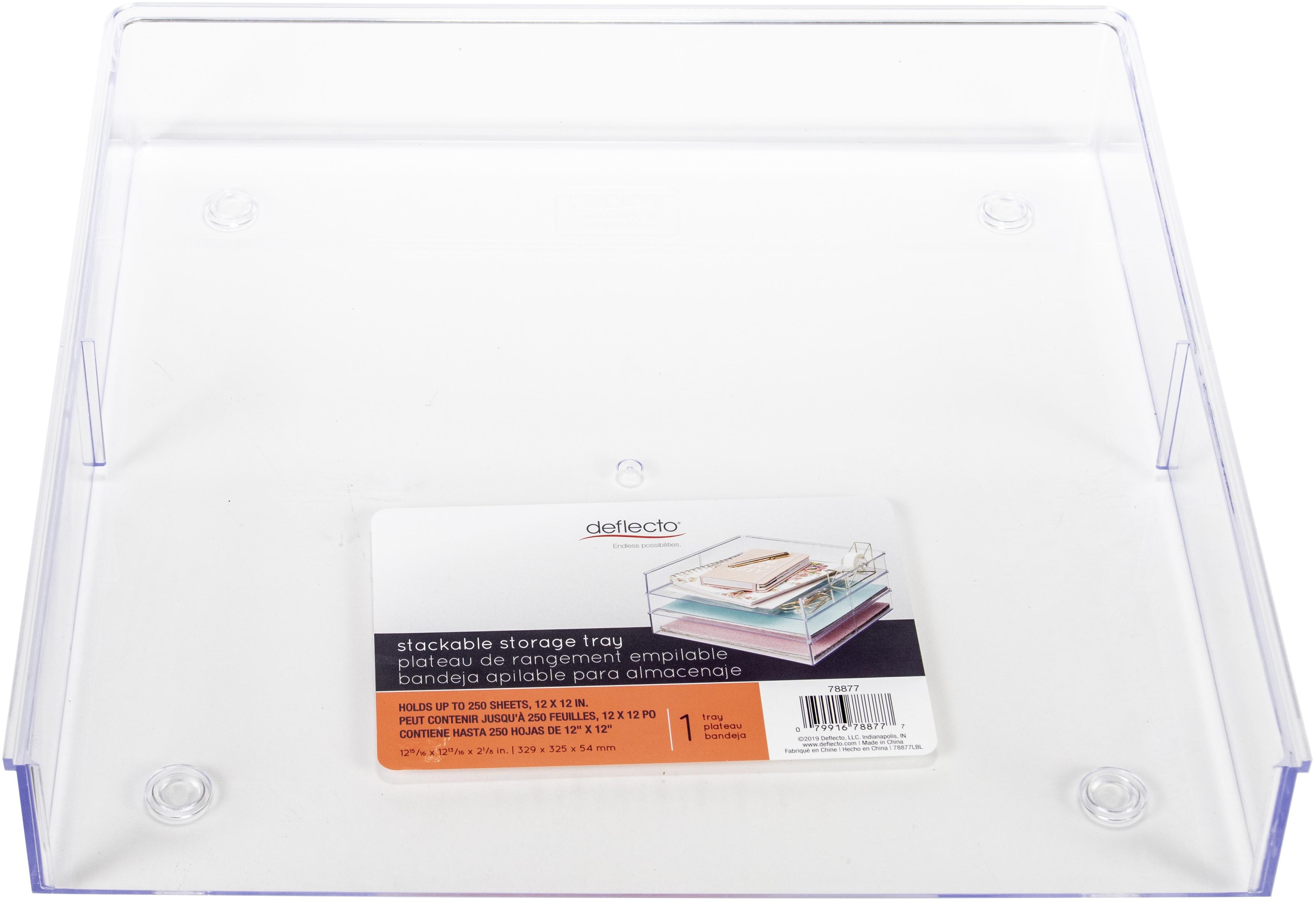 Deflecto Acrylic Stacking Tray 12X12-