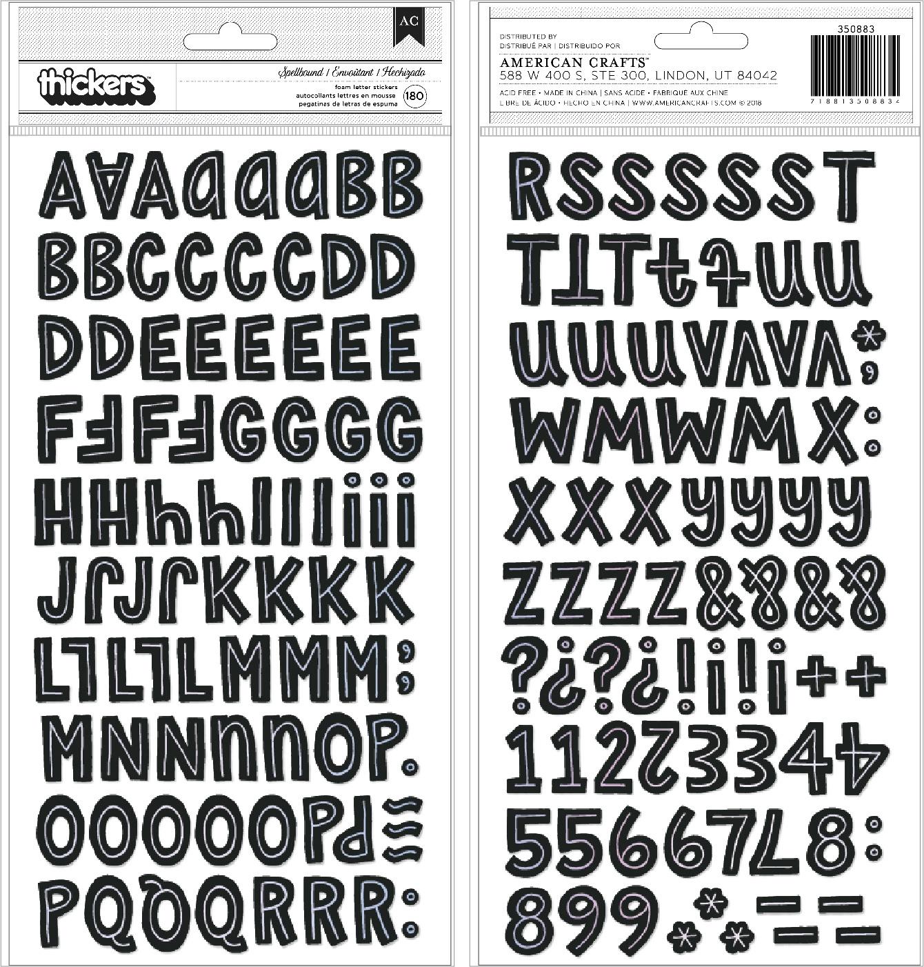 Hey, Pumpkin Thickers Stickers 180/Pkg-Spellbound Alpha/Foam
