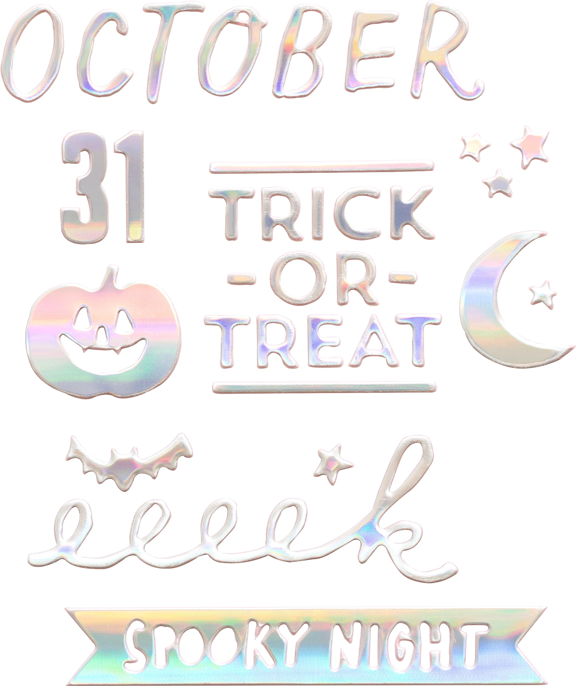 Hey, Pumpkin Thickers Stickers 131/Pkg-Hocus Pocus Phrase & Icons/Puffy