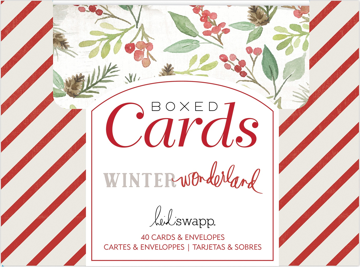 Heidi Swapp A2 Cards W/Envelopes (4.375X5.75) 40/Box-Winter Wonderland