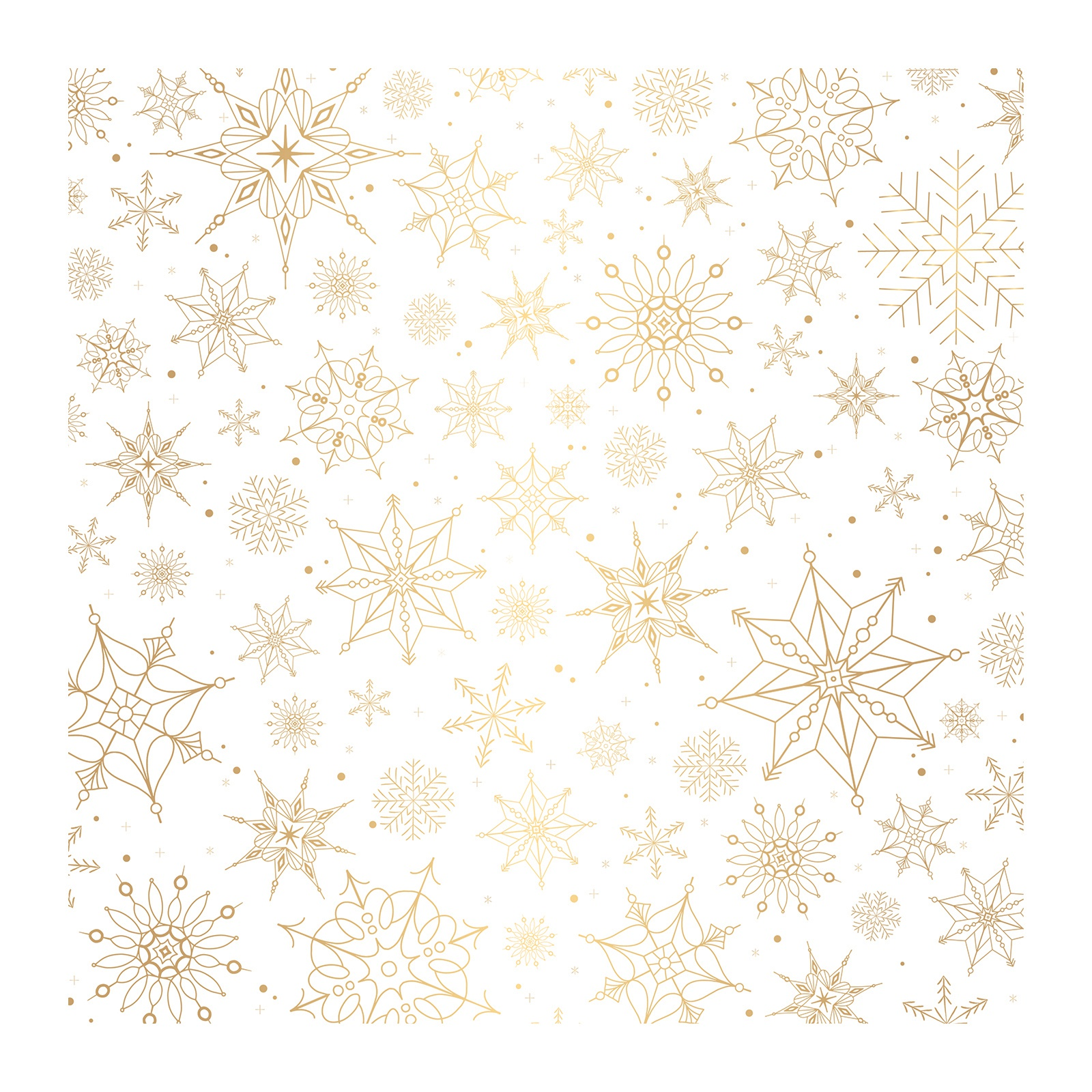 Together For Christmas Specialty Vellum 12X12-Snow Flakes W/Gold Foil