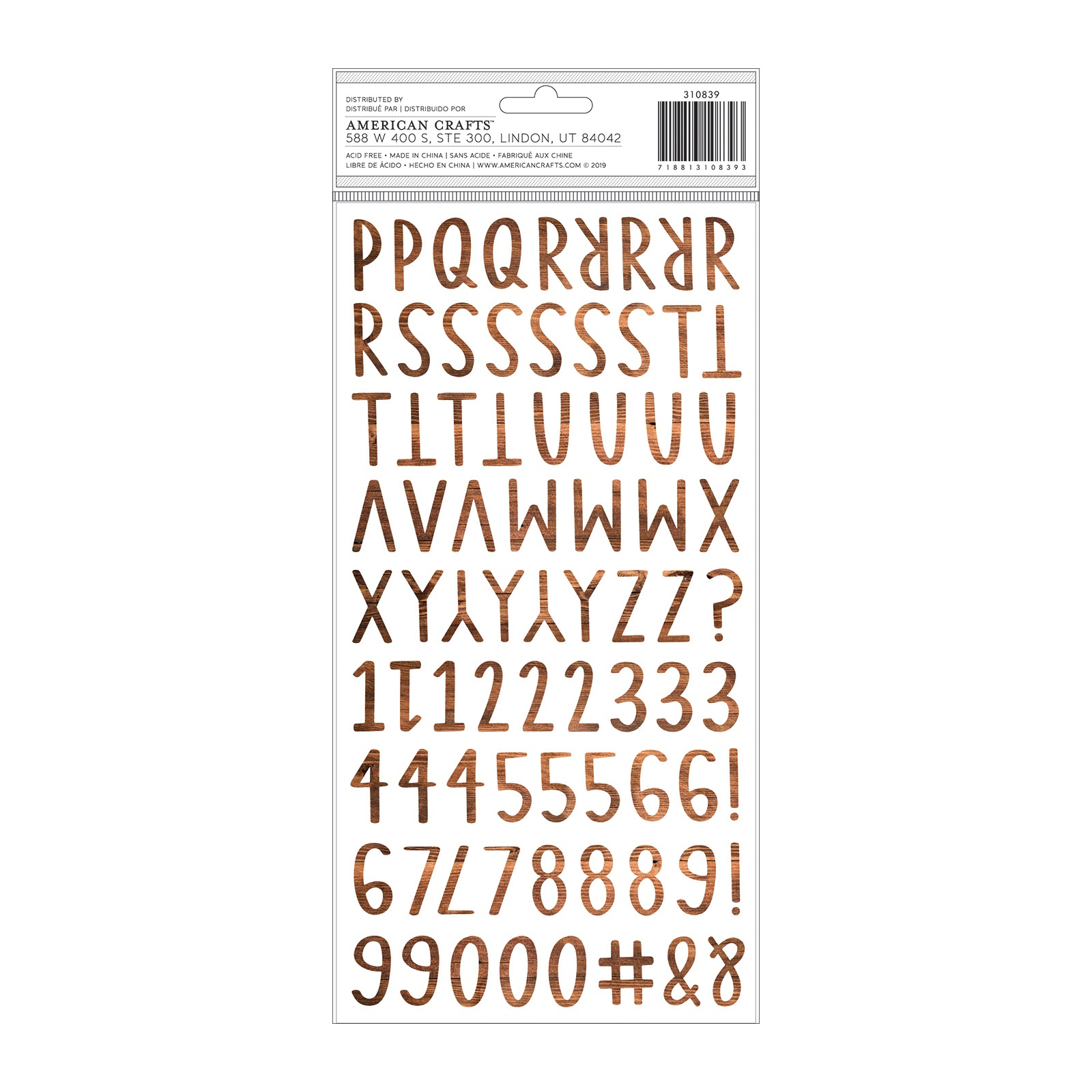 Thickers - Together For Christmas Cedar Foam Letter Stickers