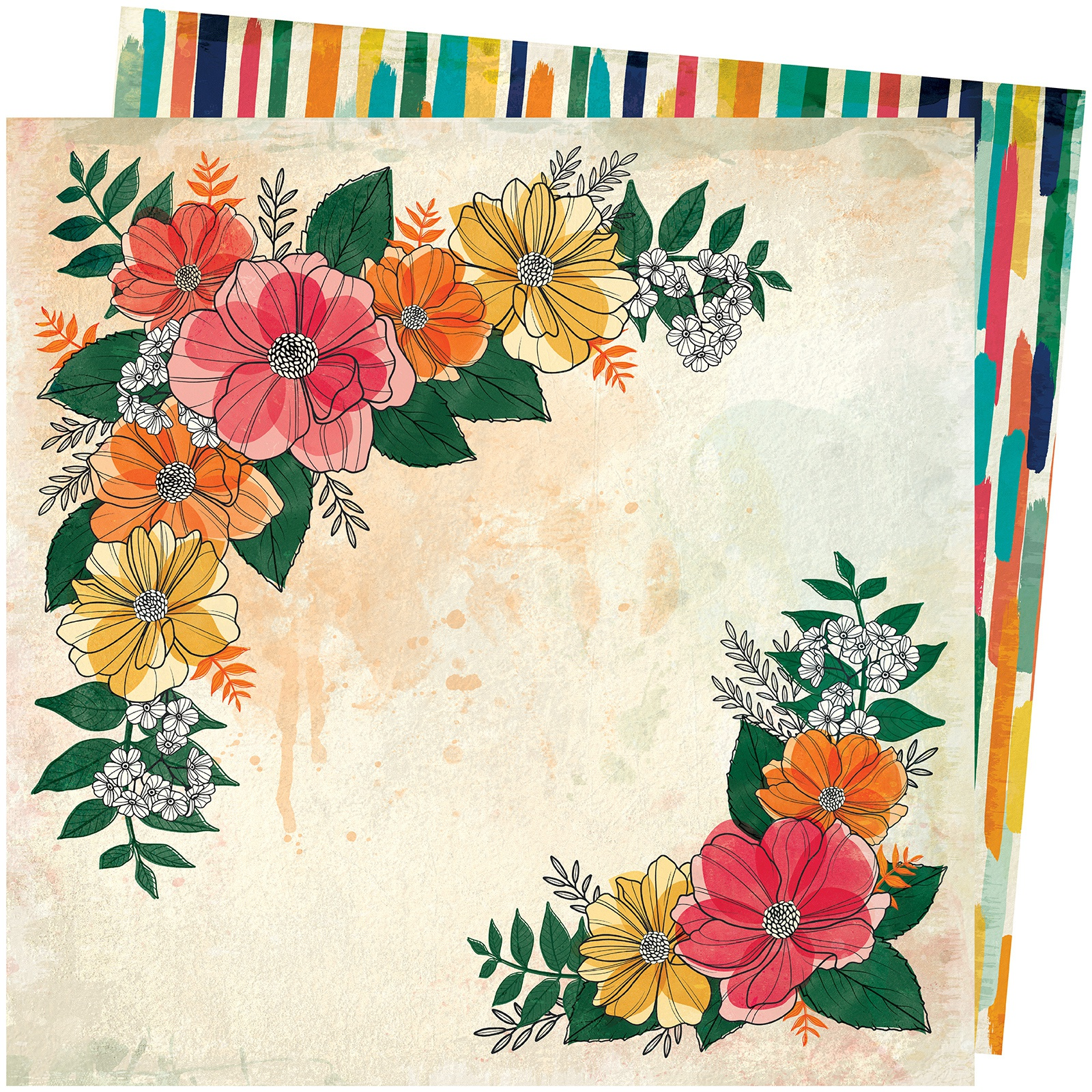 Vicki Boutin Wildflower & Honey Dbl-Sided Cardstock 12X12-Blossom