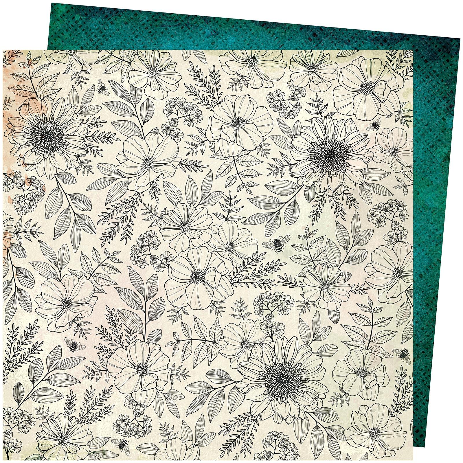 Vicki Boutin Wildflower & Honey Dbl-Sided Cardstock 12X12-Full Bloom