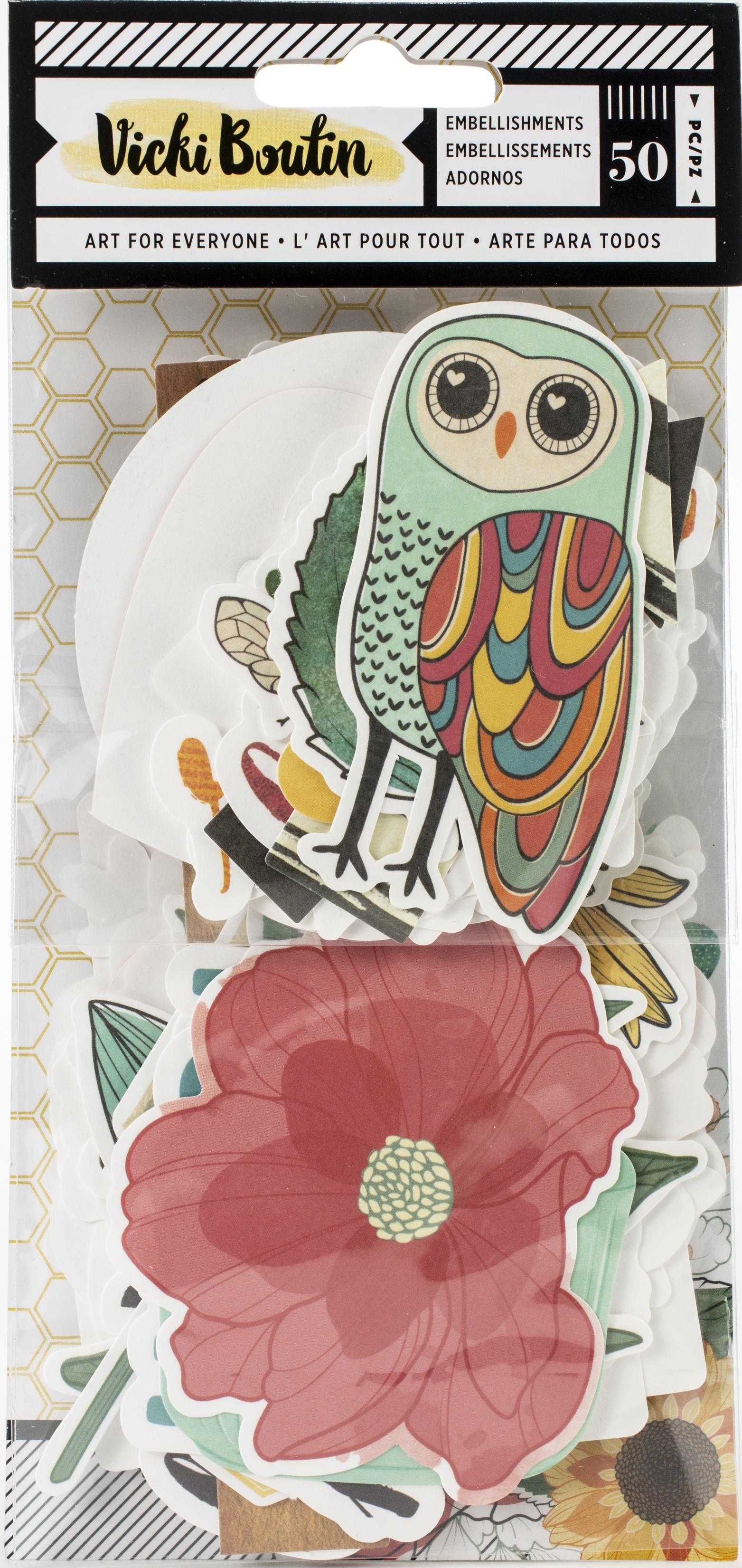 Vicki Boutin Wildflower & Honey Ephemera Die-Cuts 50/Pkg-Cardstock Icons