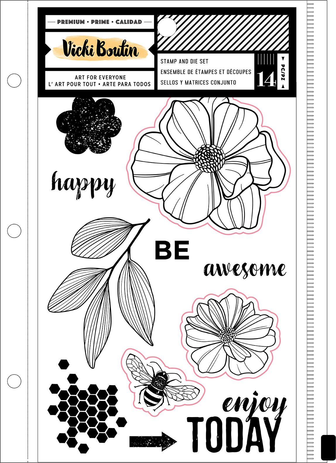 Vicki Boutin Wildflower & Honey Stamps & Dies-Wildflower W/Magnetic Sheet & Pouc...