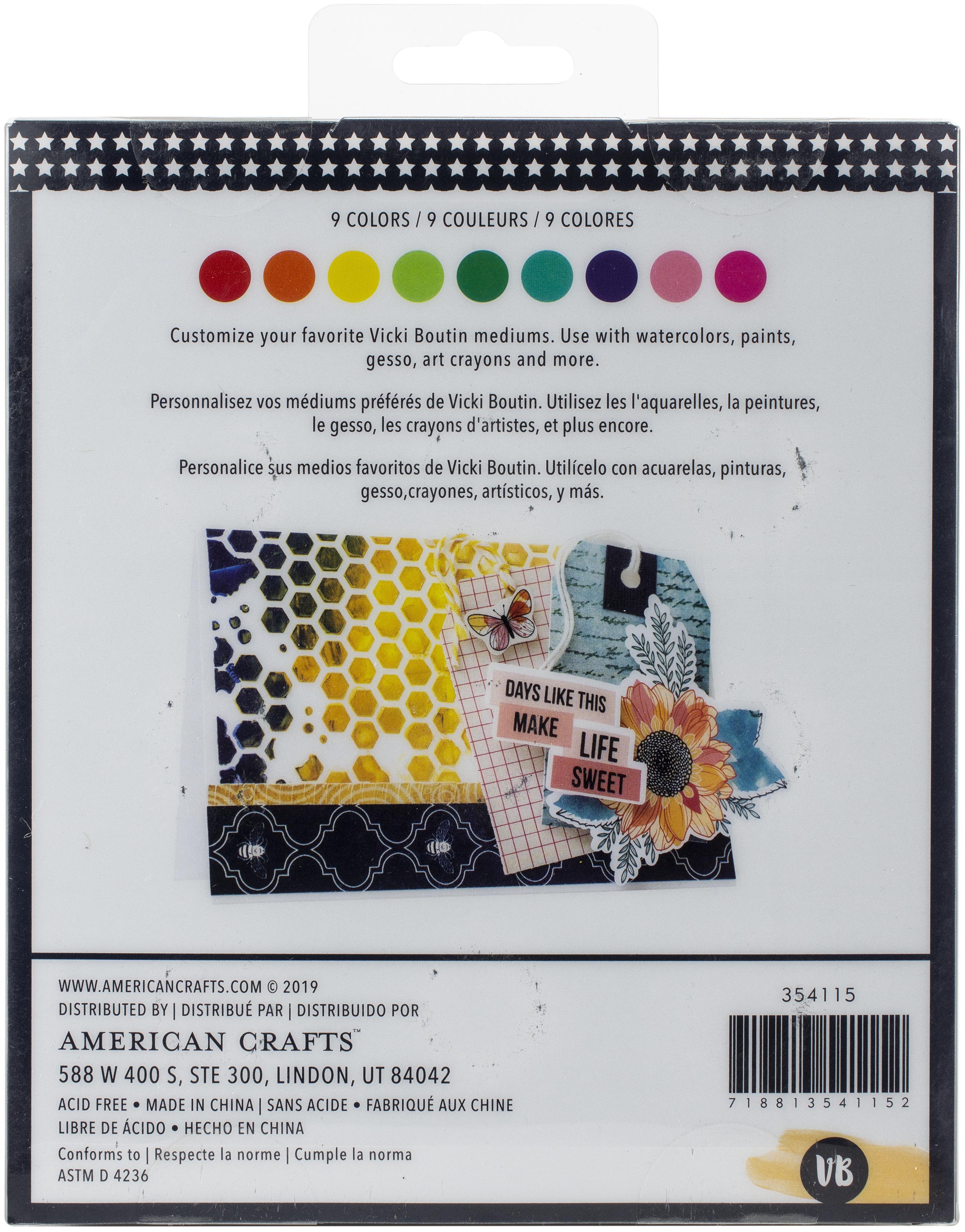 Vicki Boutin Mixed Media Powder Pigment Set 9/Pkg-Assorted Colors