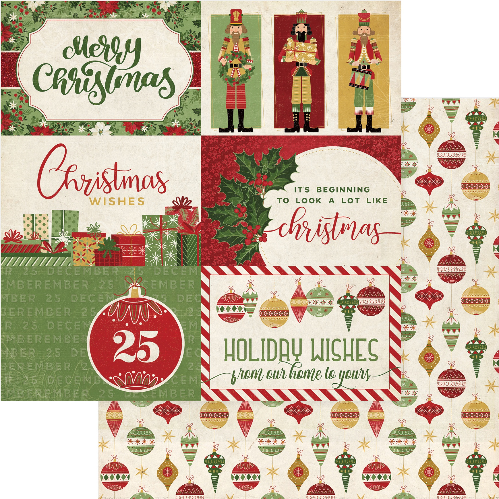Christmas Memories Double-Sided Cardstock 12X12-Holiday Wishes