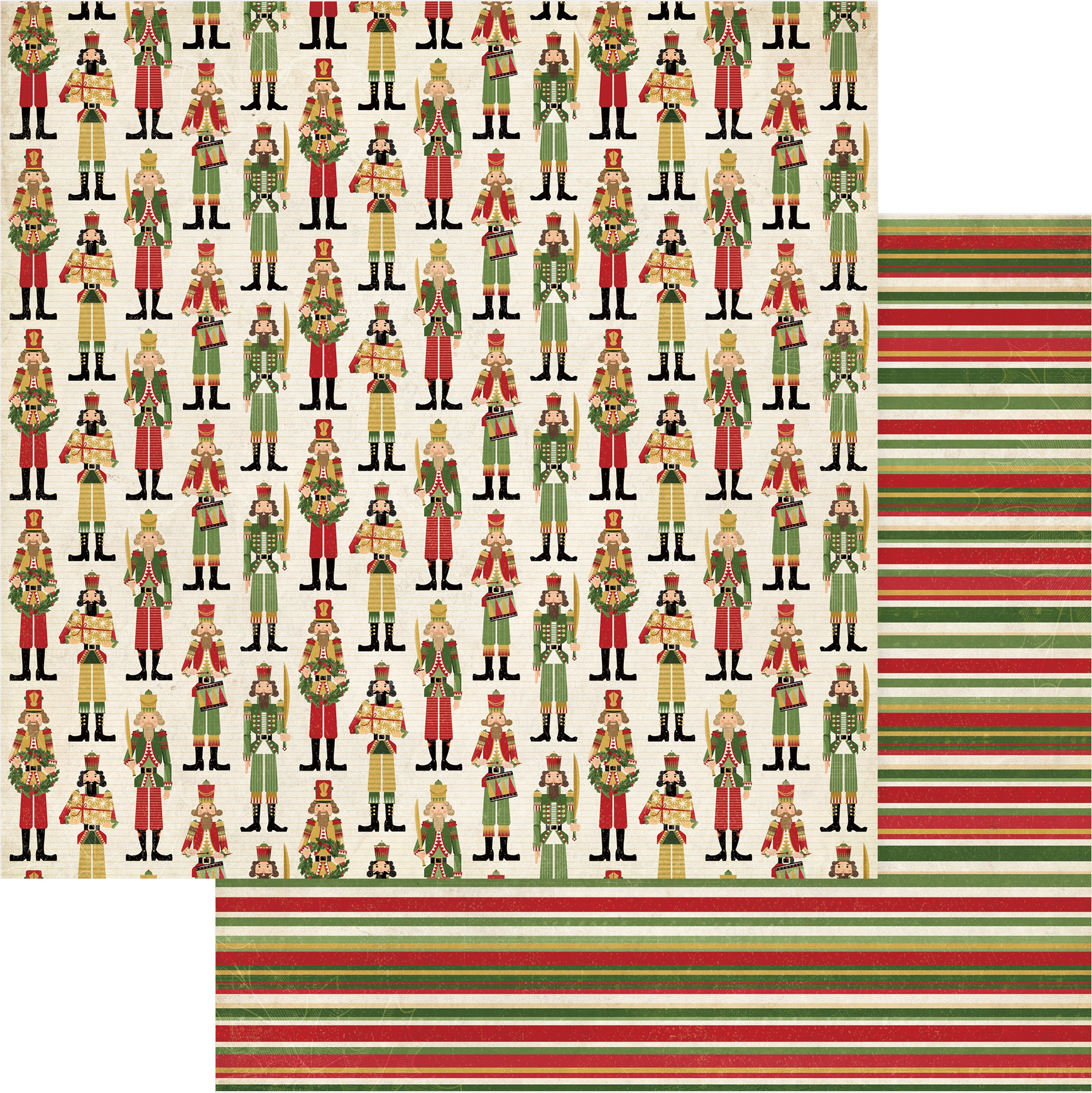 Christmas Memories Double-Sided Cardstock 12X12-Nutcracker