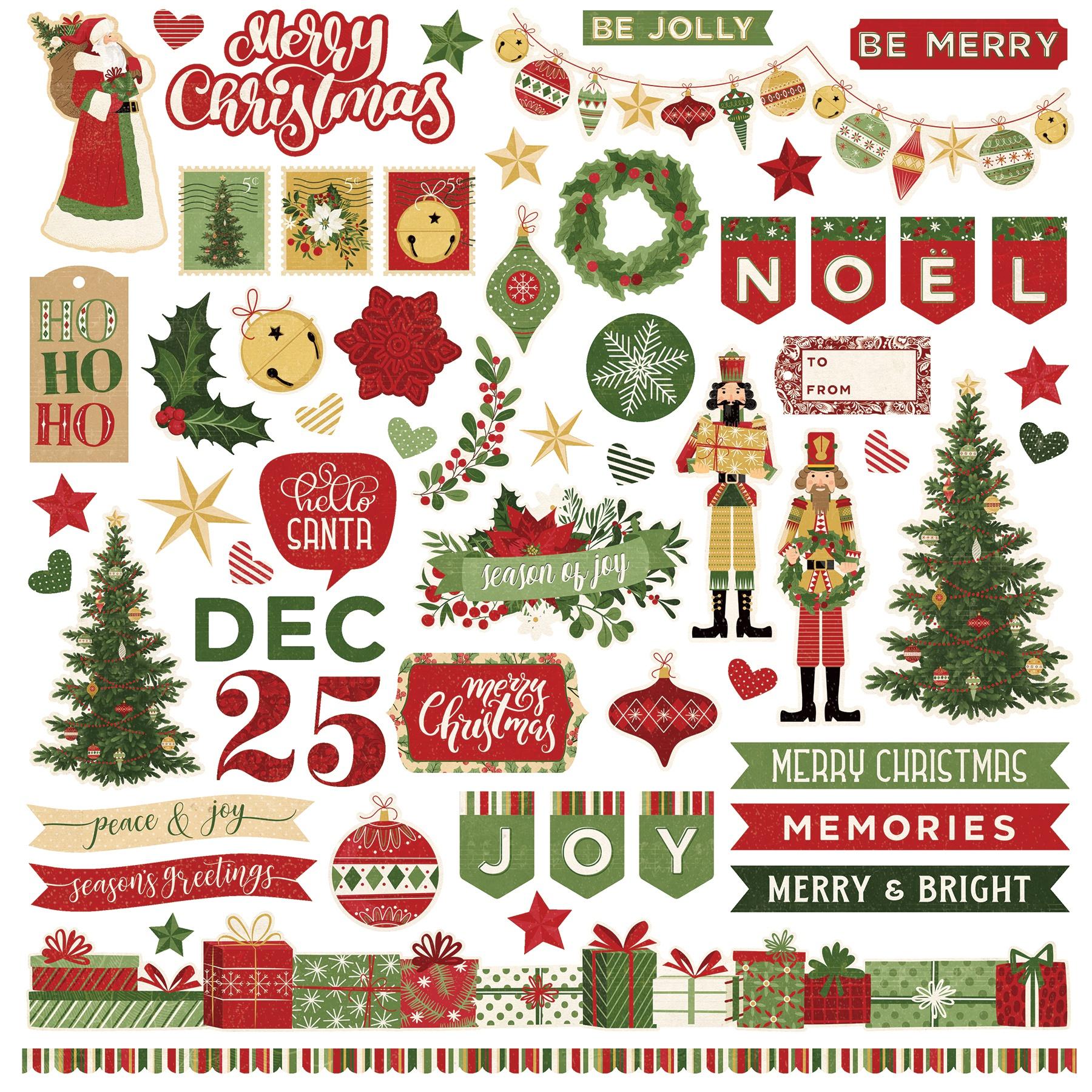 Christmas Memories Stickers 12X12-Elements