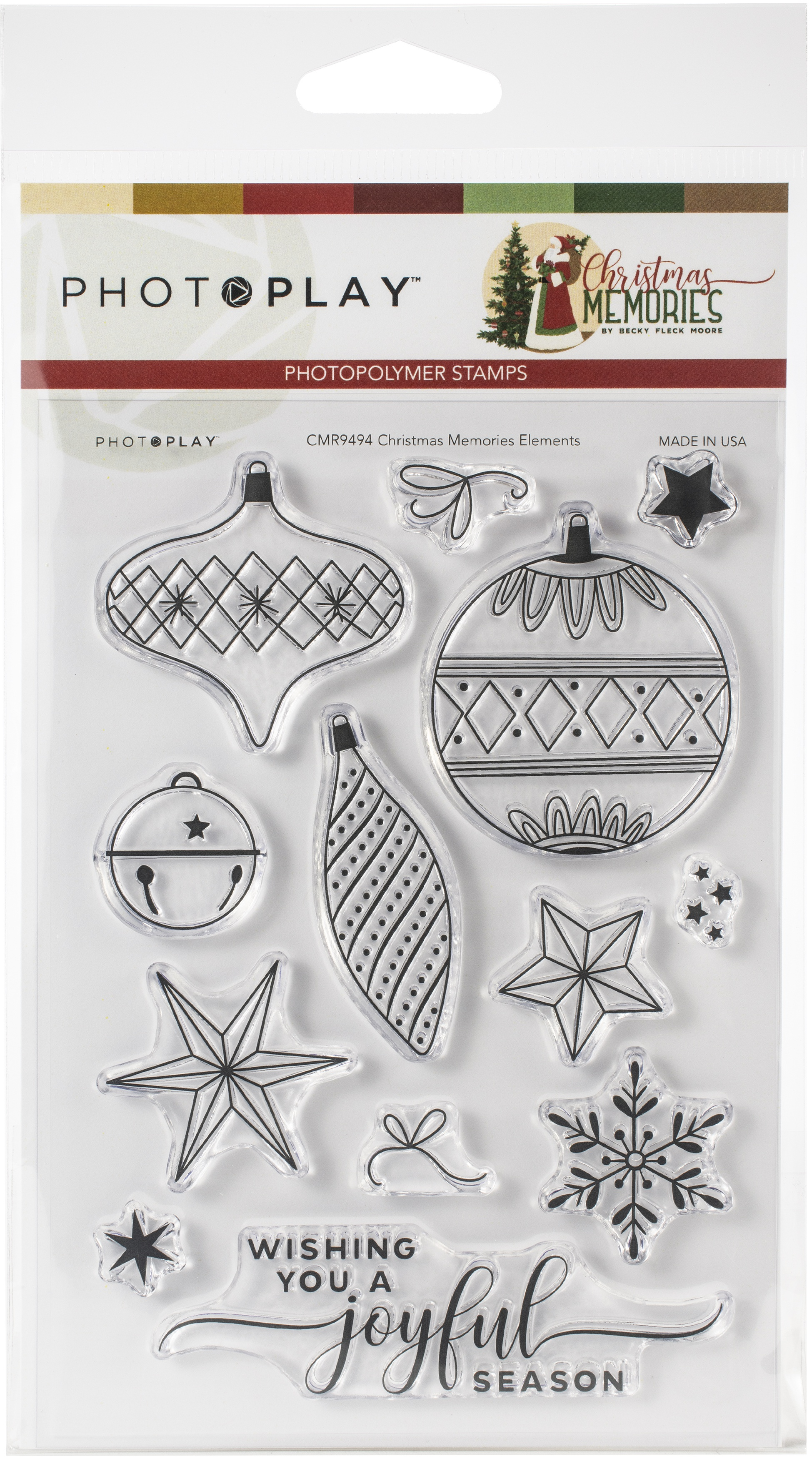 PhotoPlay Photopolymer Die and Stamp set -Elements, Christmas Memories