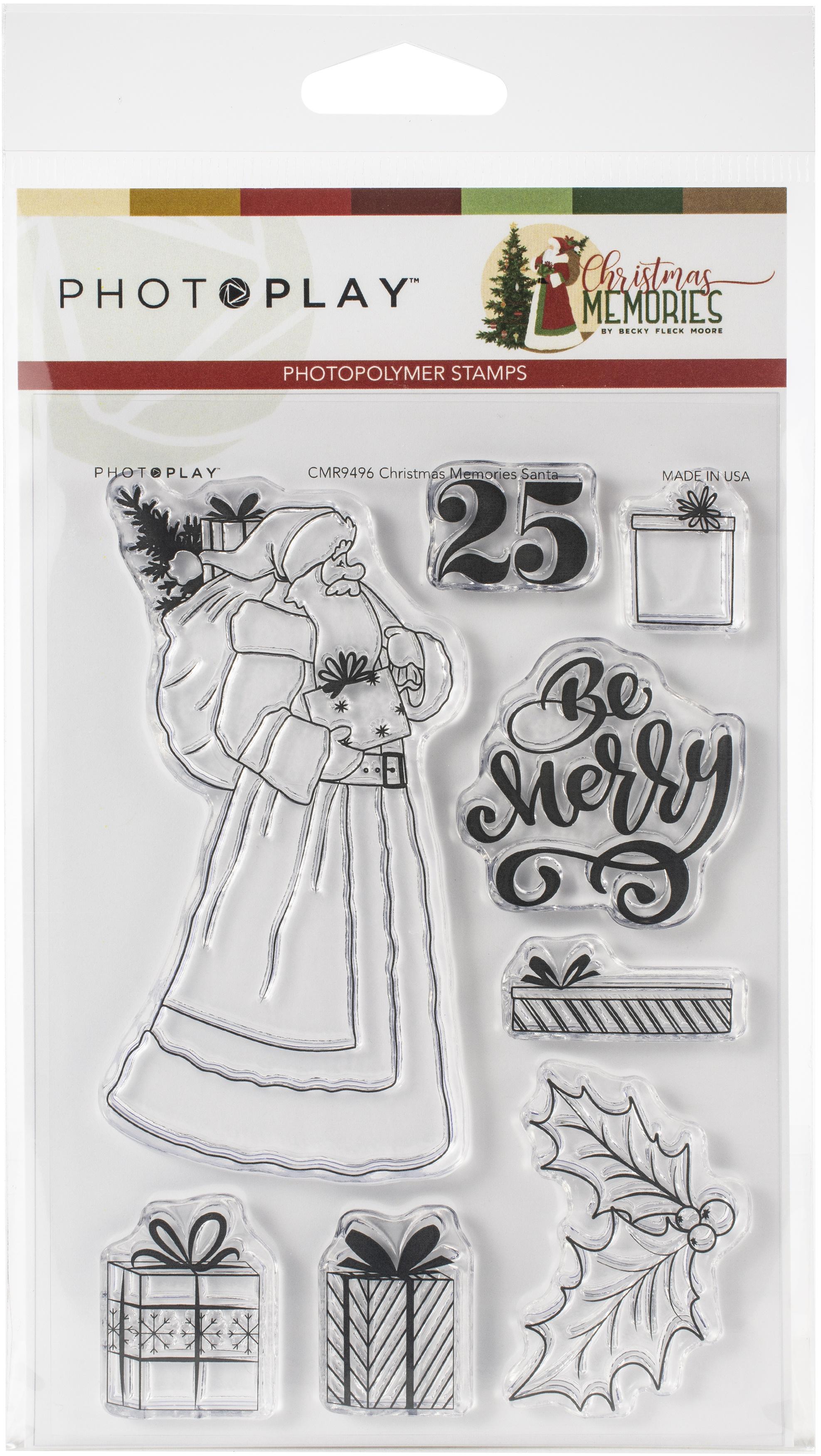 PhotoPlay Photopolymer Die and  Stamp set -Santa, Christmas Memories