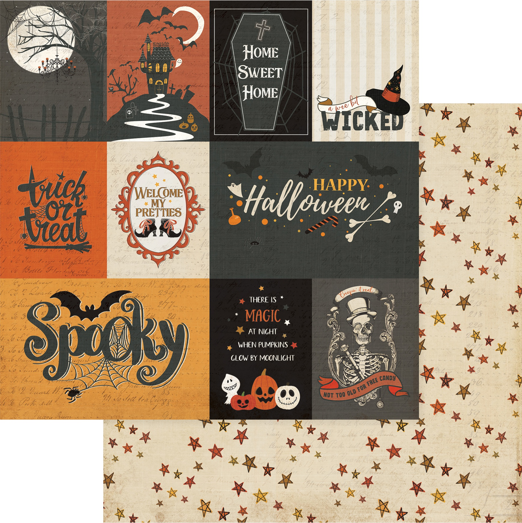 All Hallows' Eve Double-Sided Cardstock 12X12-Spooky