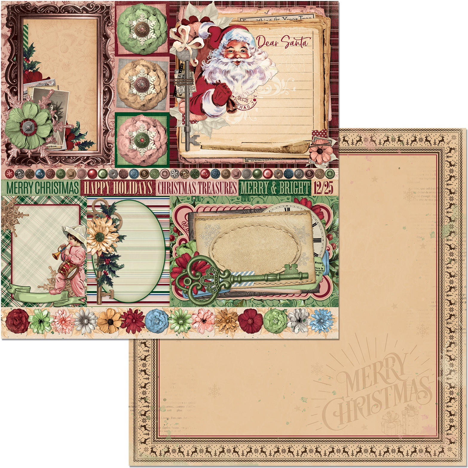 Christmas Treasures Dear Santa Paper