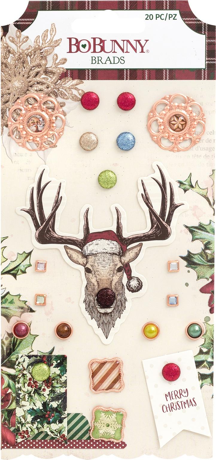 Christmas Treasures Brads 20/Pkg