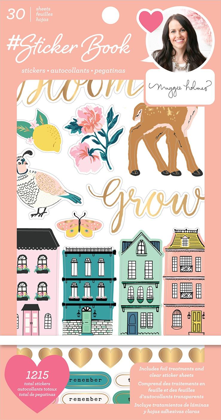 American Crafts Sticker Book 4.75X8-Maggie Holmes W/Gold Foil