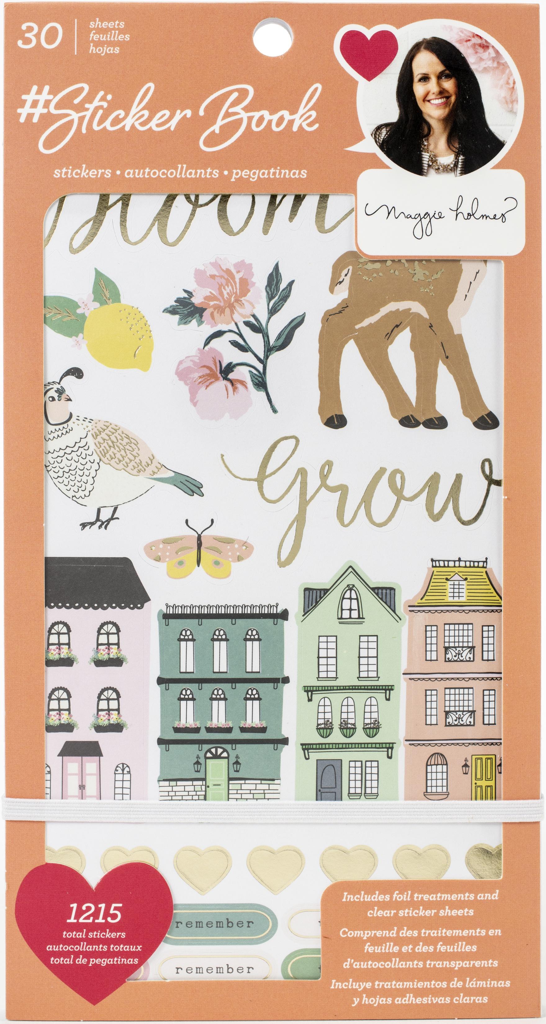 American Crafts Sticker Book 4.75X8-Maggie Holmes W/Gold Foil 1215/Pkg