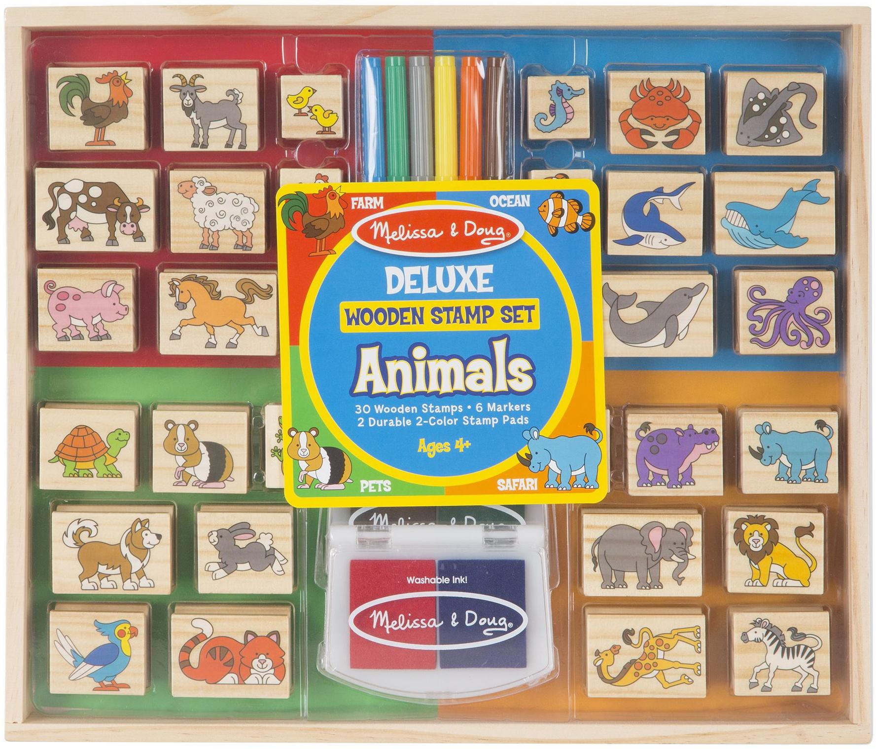 Deluxe Wooden Stamp Set -Animals