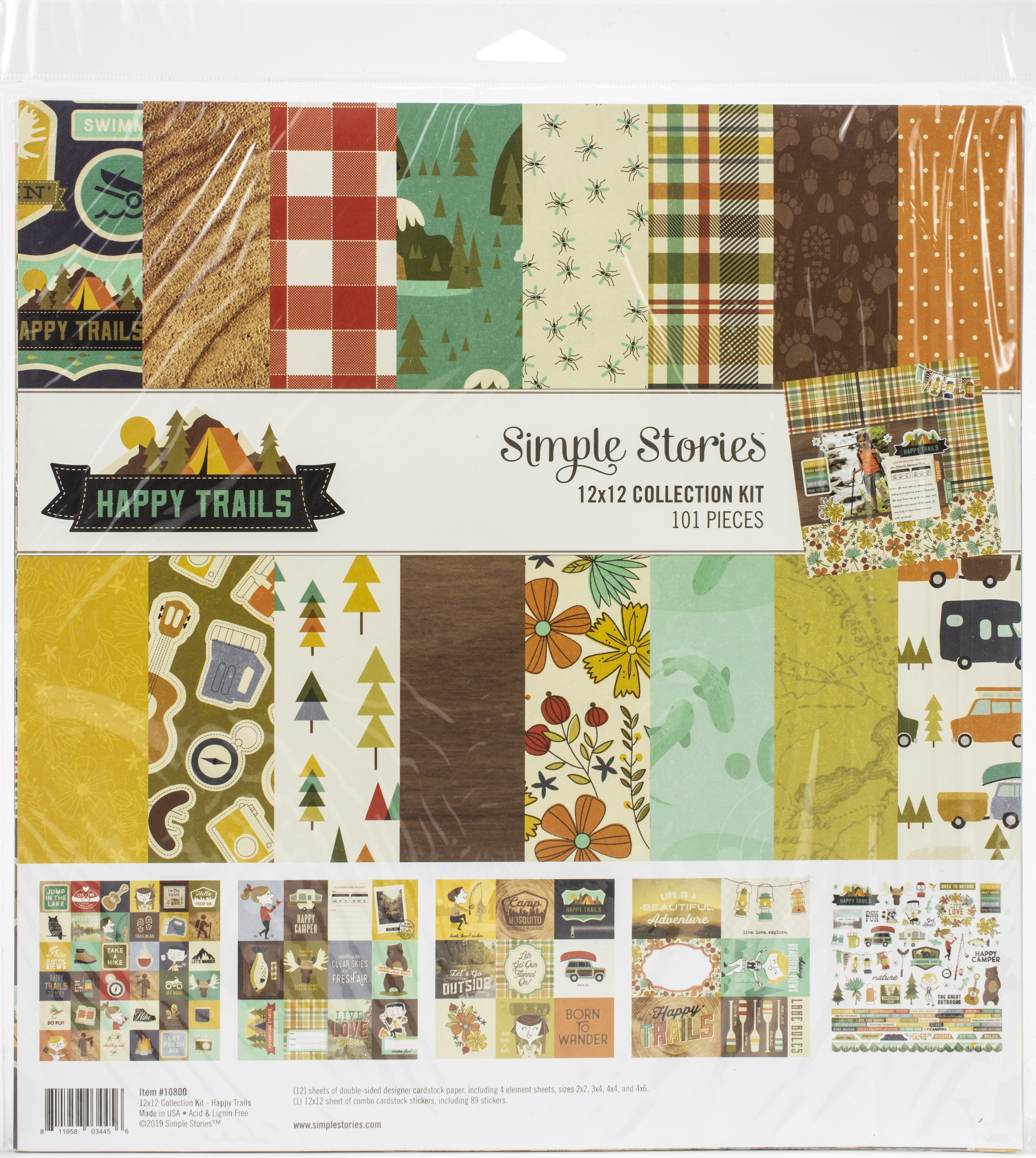Simple Stories Collection Kit 12X12-Happy Trails