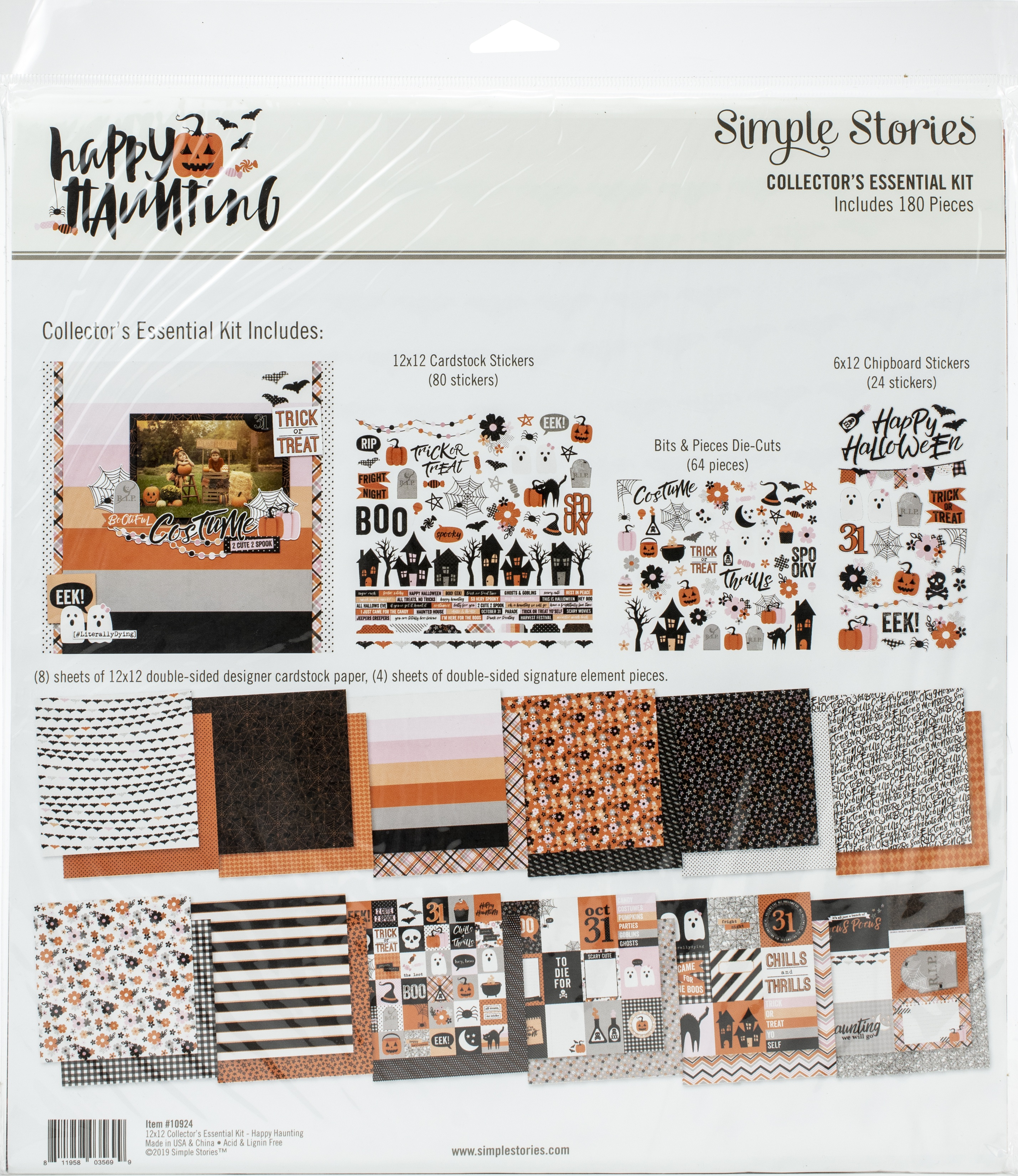 Simple Stories Collector's Essential Kit 12X12-Happy Haunting