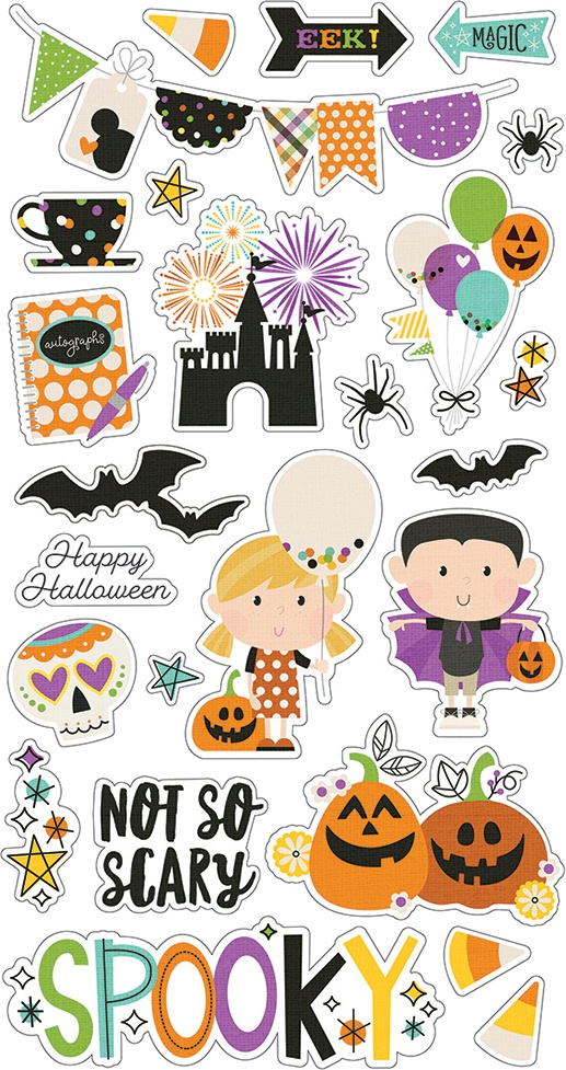 Say Cheese Halloween Chipboard Stickers 6X12-
